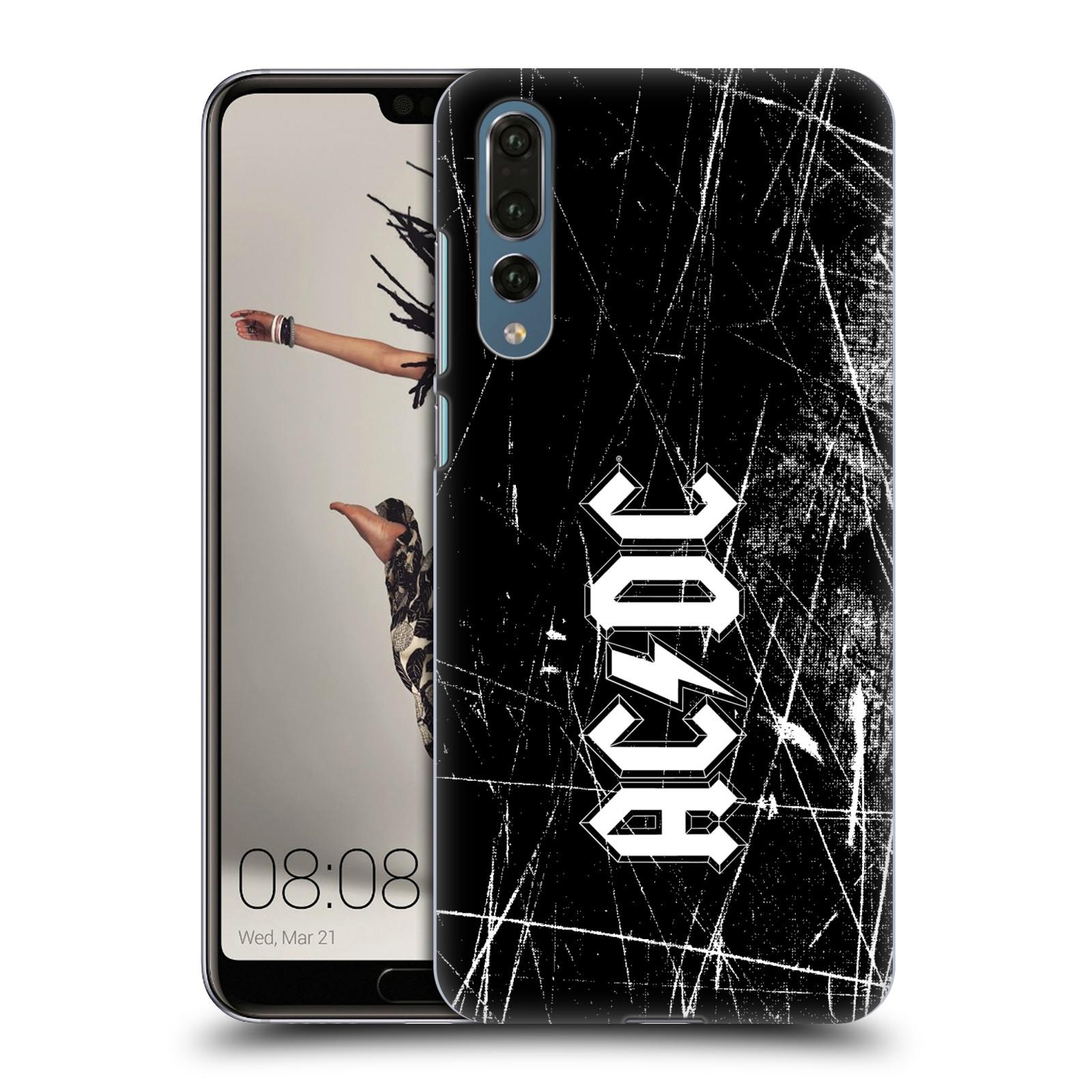 Plastové pouzdro na mobil Huawei P20 Pro - Head Case - AC/DC Černobílé logo