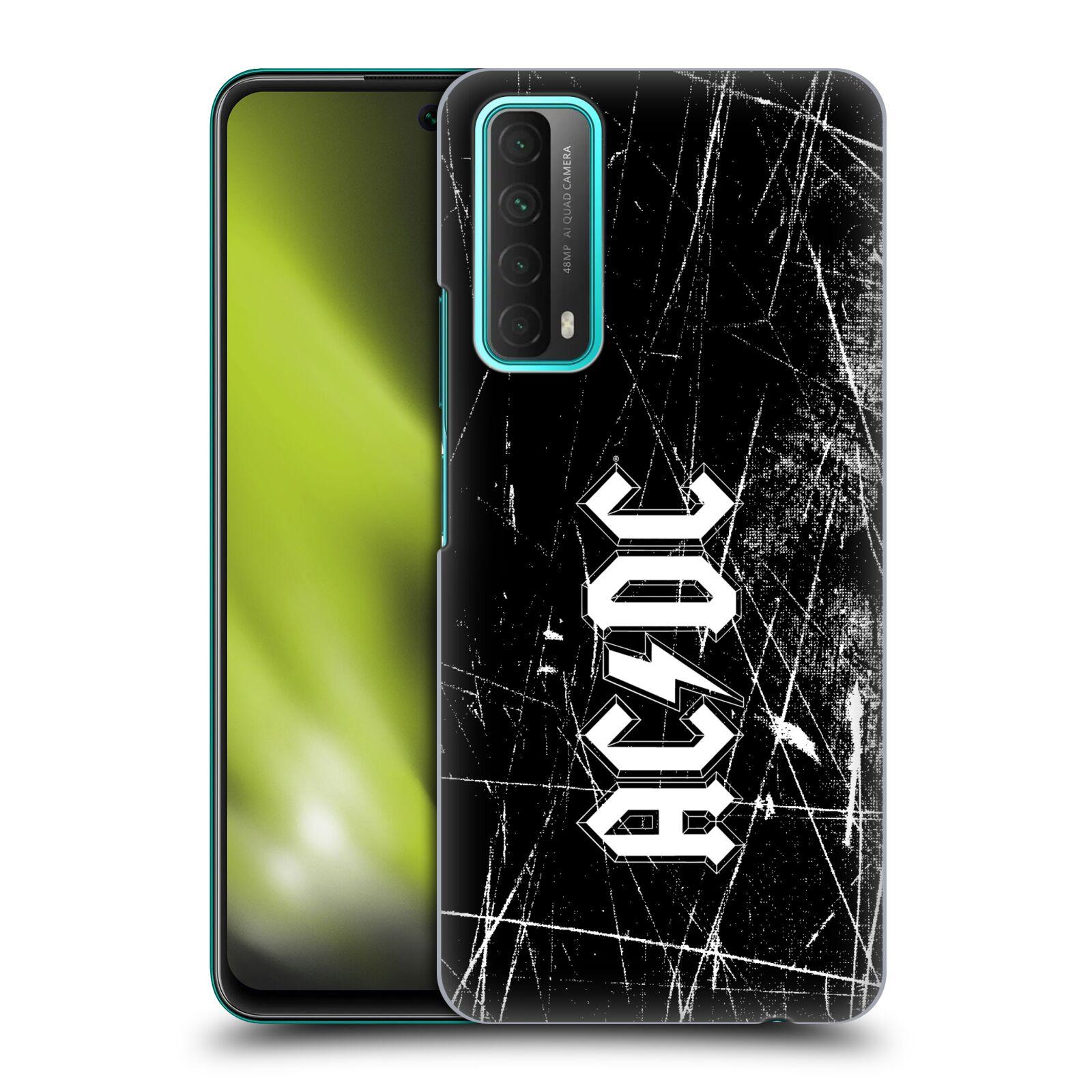 Plastové pouzdro na mobil Huawei P Smart (2021) - Head Case - AC/DC Černobílé logo