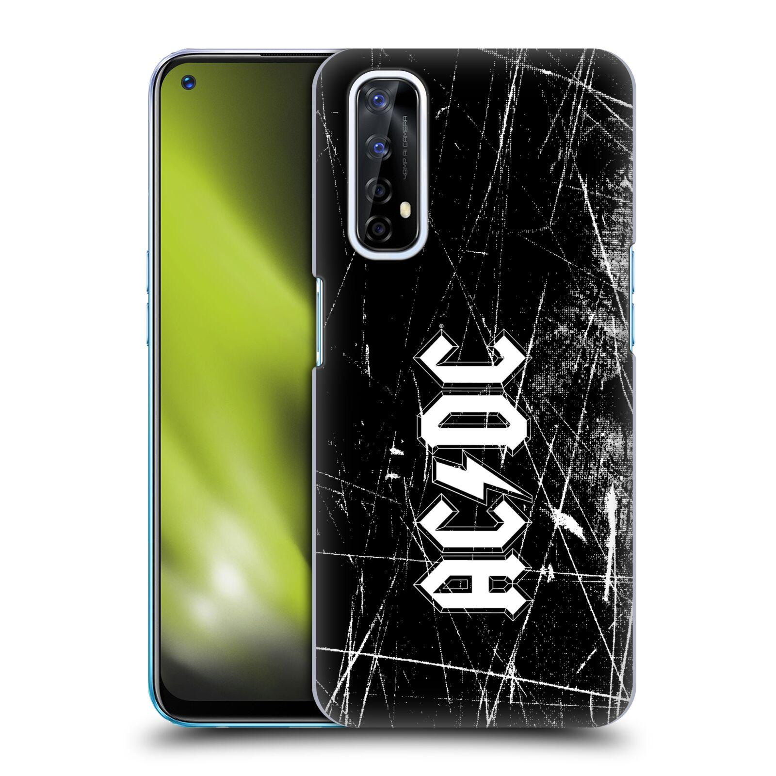 Plastové pouzdro na mobil Realme 7 - Head Case - AC/DC Černobílé logo