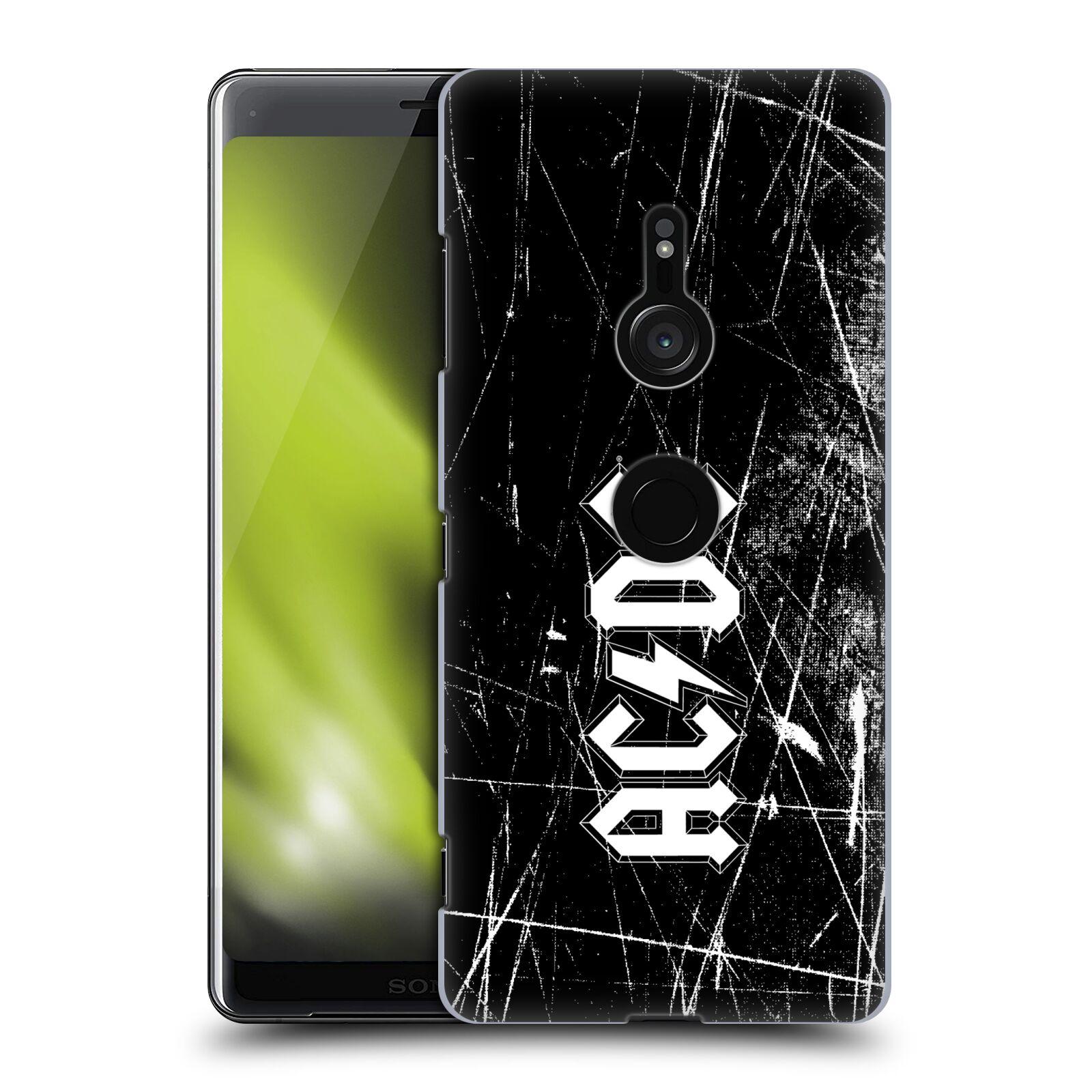 Plastové pouzdro na mobil Sony Xperia XZ3 - Head Case - AC/DC Černobílé logo