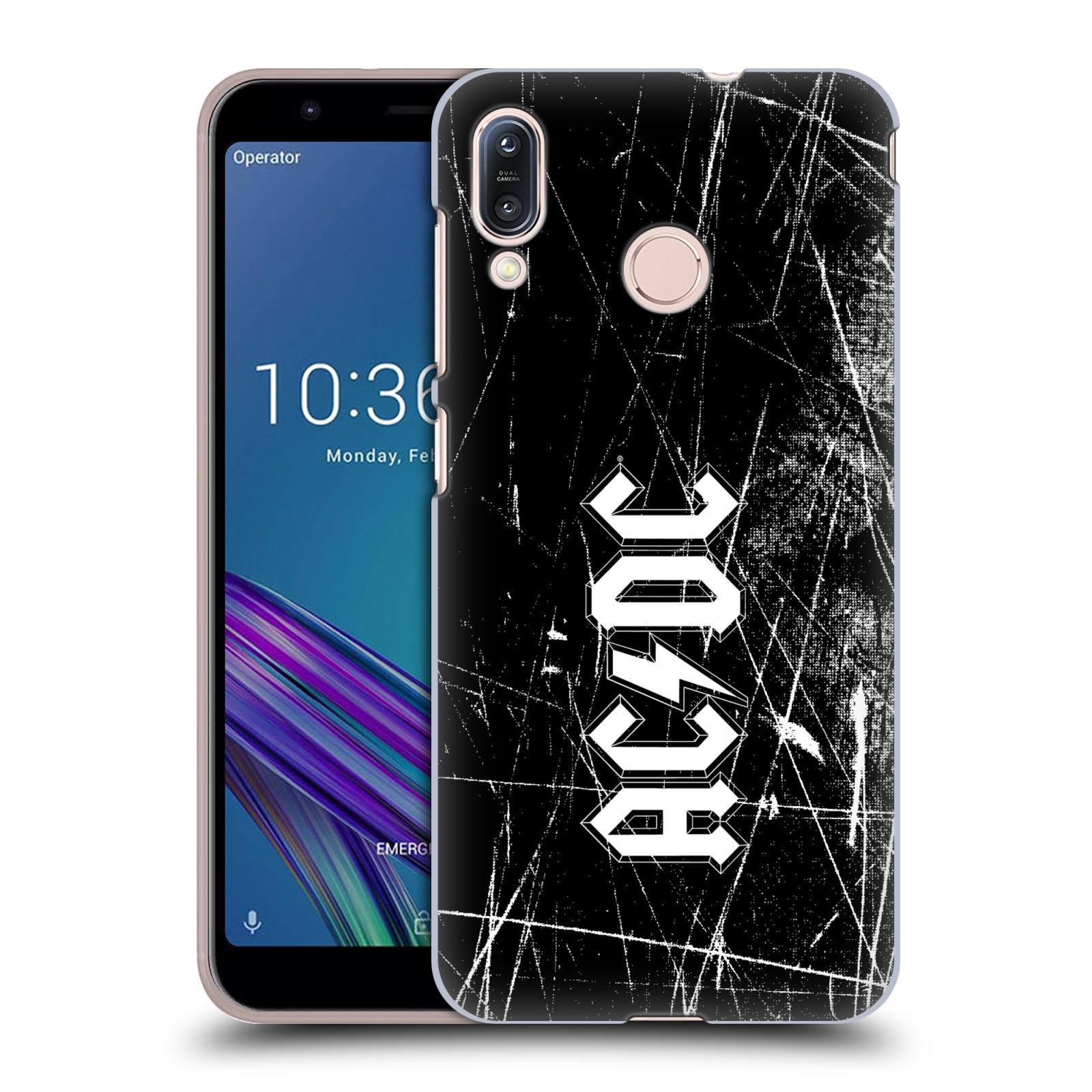 Plastové pouzdro na mobil Asus Zenfone Max M1 ZB555KL - Head Case - AC/DC Černobílé logo