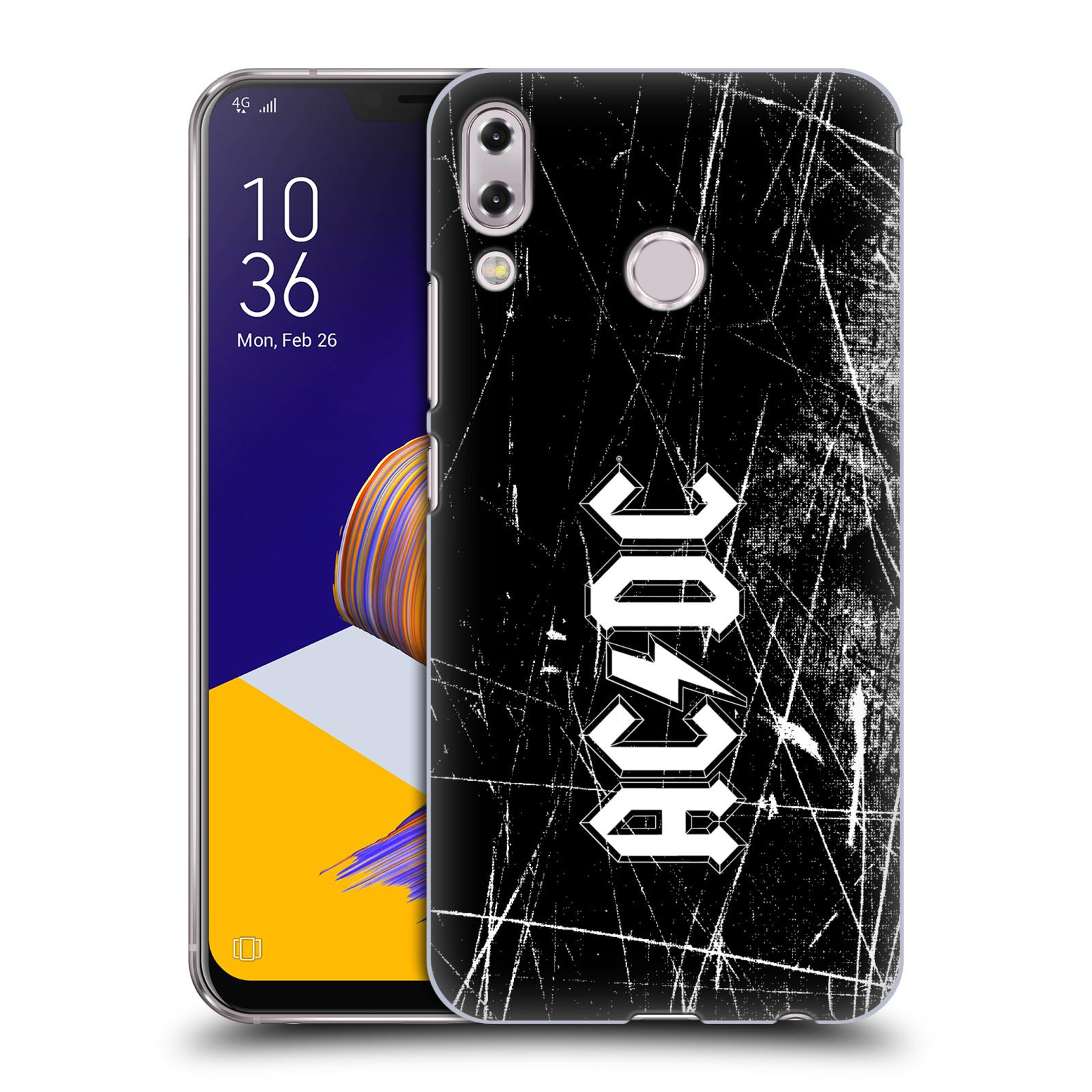 Plastové pouzdro na mobil Asus Zenfone 5z ZS620KL - Head Case - AC/DC Černobílé logo