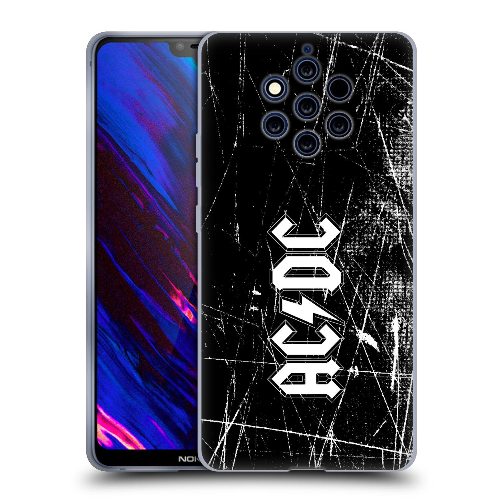 Silikonové pouzdro na mobil Nokia 9 PureView - Head Case - AC/DC Černobílé logo