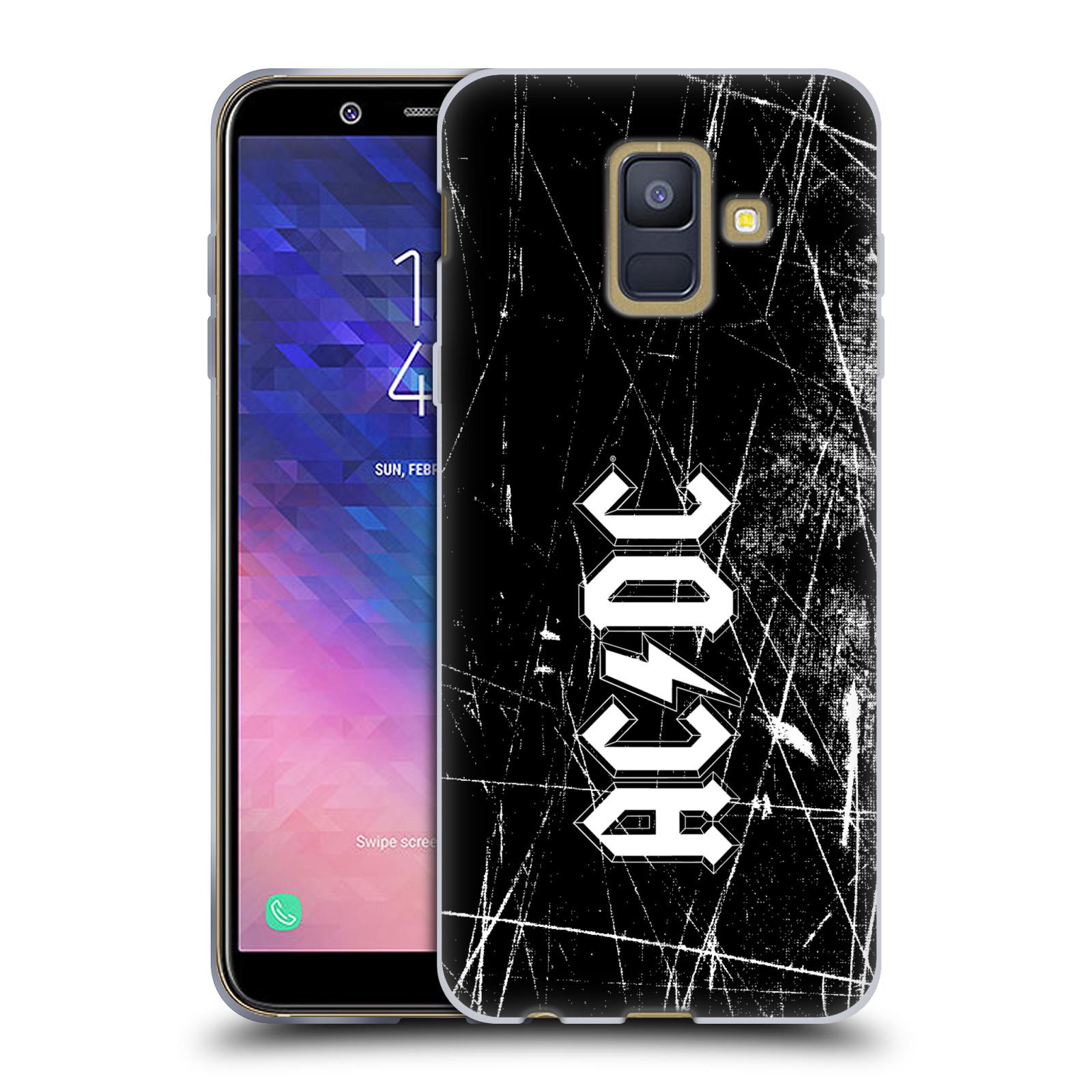 Silikonové pouzdro na mobil Samsung Galaxy A6 (2018) - Head Case - AC/DC Černobílé logo