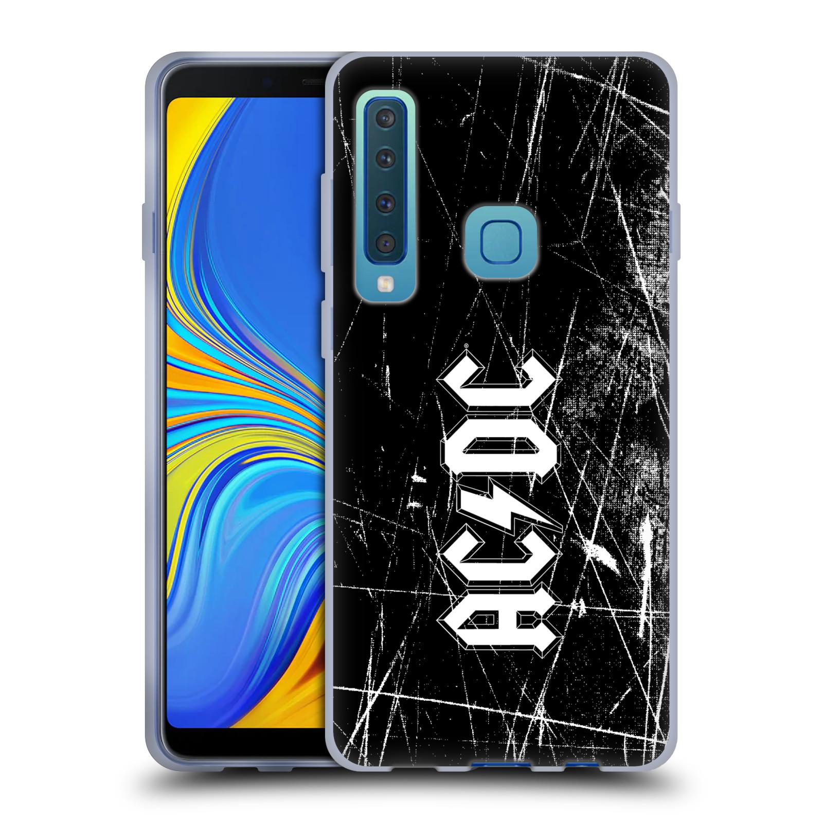 Silikonové pouzdro na mobil Samsung Galaxy A9 (2018) - Head Case - AC/DC Černobílé logo