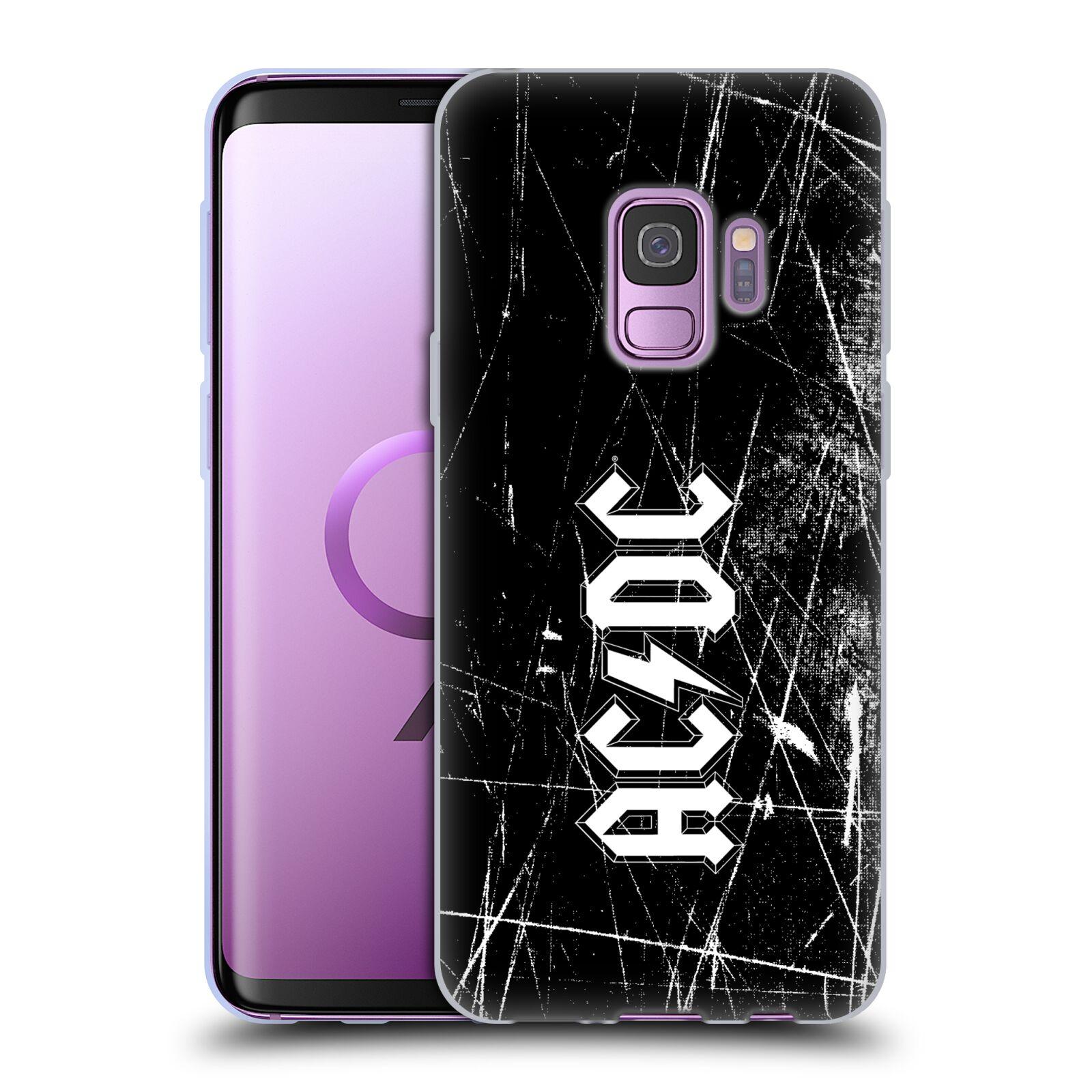Silikonové pouzdro na mobil Samsung Galaxy S9 - Head Case - AC/DC Černobílé logo