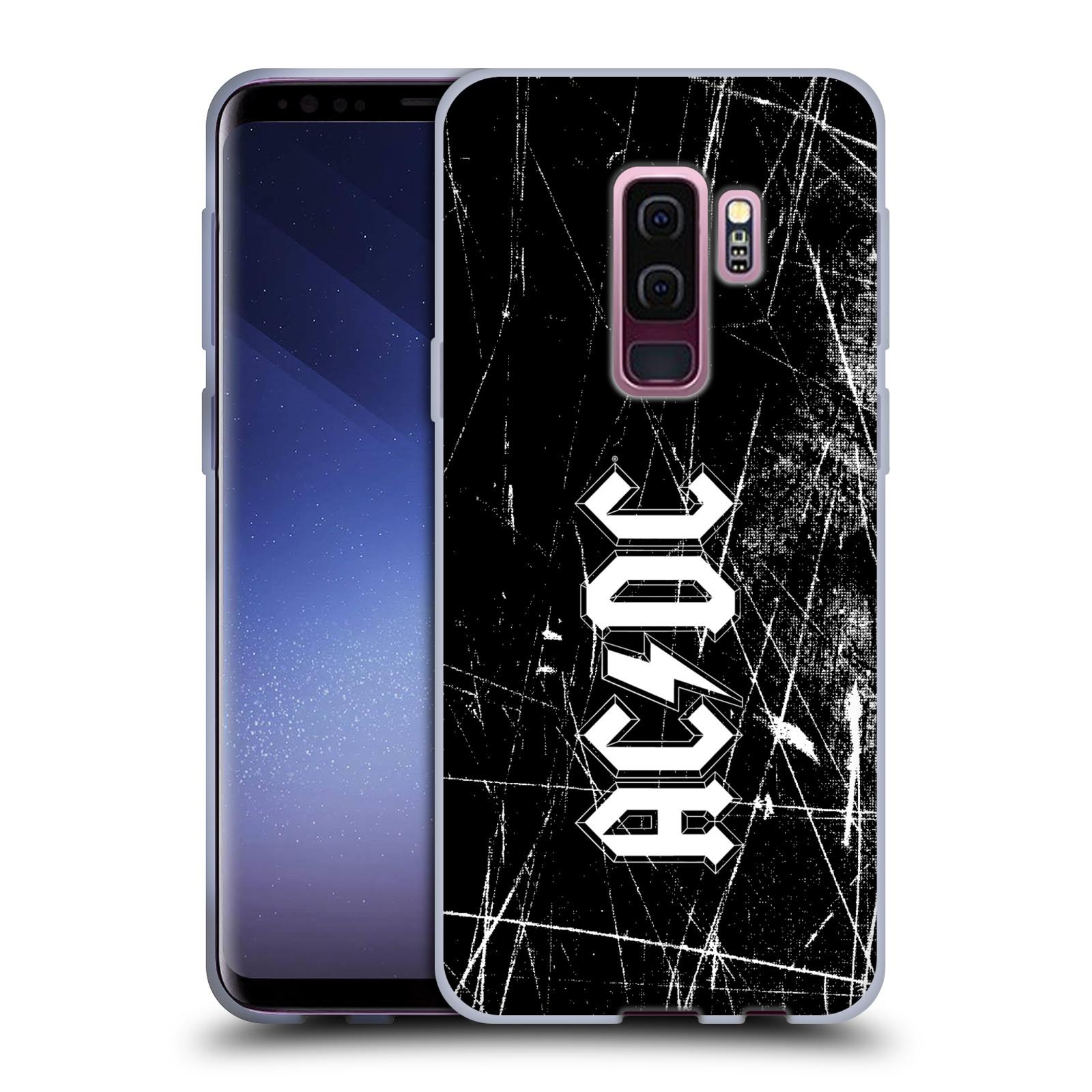 Silikonové pouzdro na mobil Samsung Galaxy S9 Plus - Head Case - AC/DC Černobílé logo