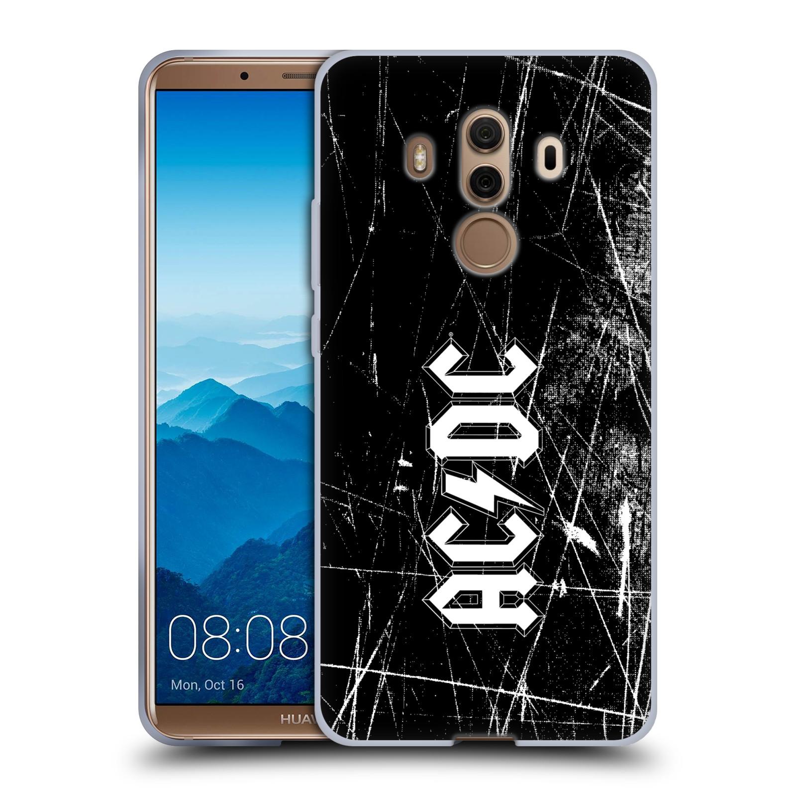 Silikonové pouzdro na mobil Huawei Mate 10 Pro - Head Case - AC/DC Černobílé logo