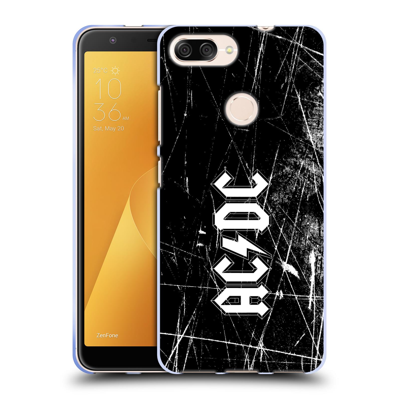 Silikonové pouzdro na mobil Asus ZenFone Max Plus (M1) - Head Case - AC/DC Černobílé logo