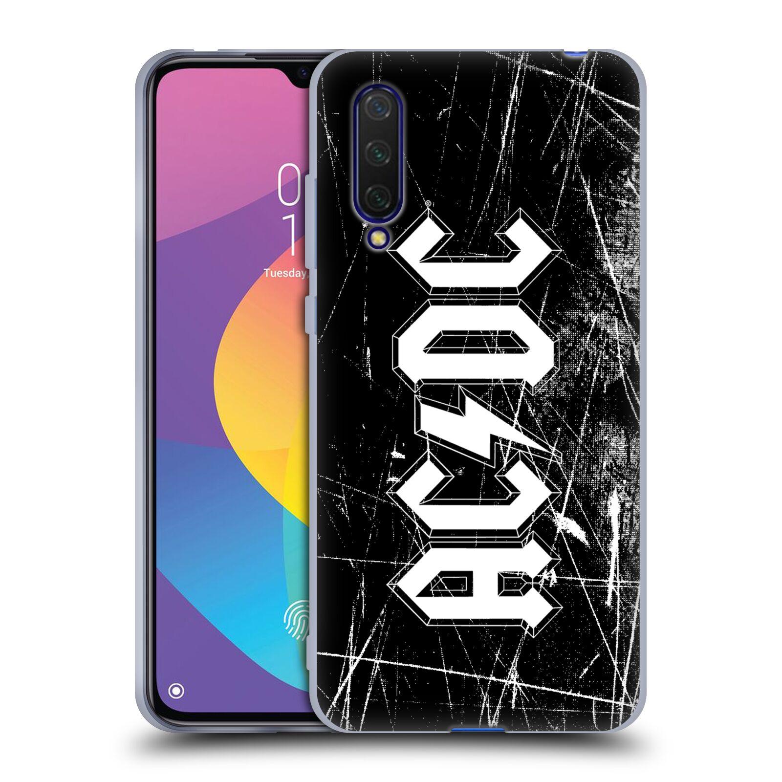 Silikonové pouzdro na mobil Xiaomi Mi 9 Lite - Head Case - AC/DC Černobílé logo