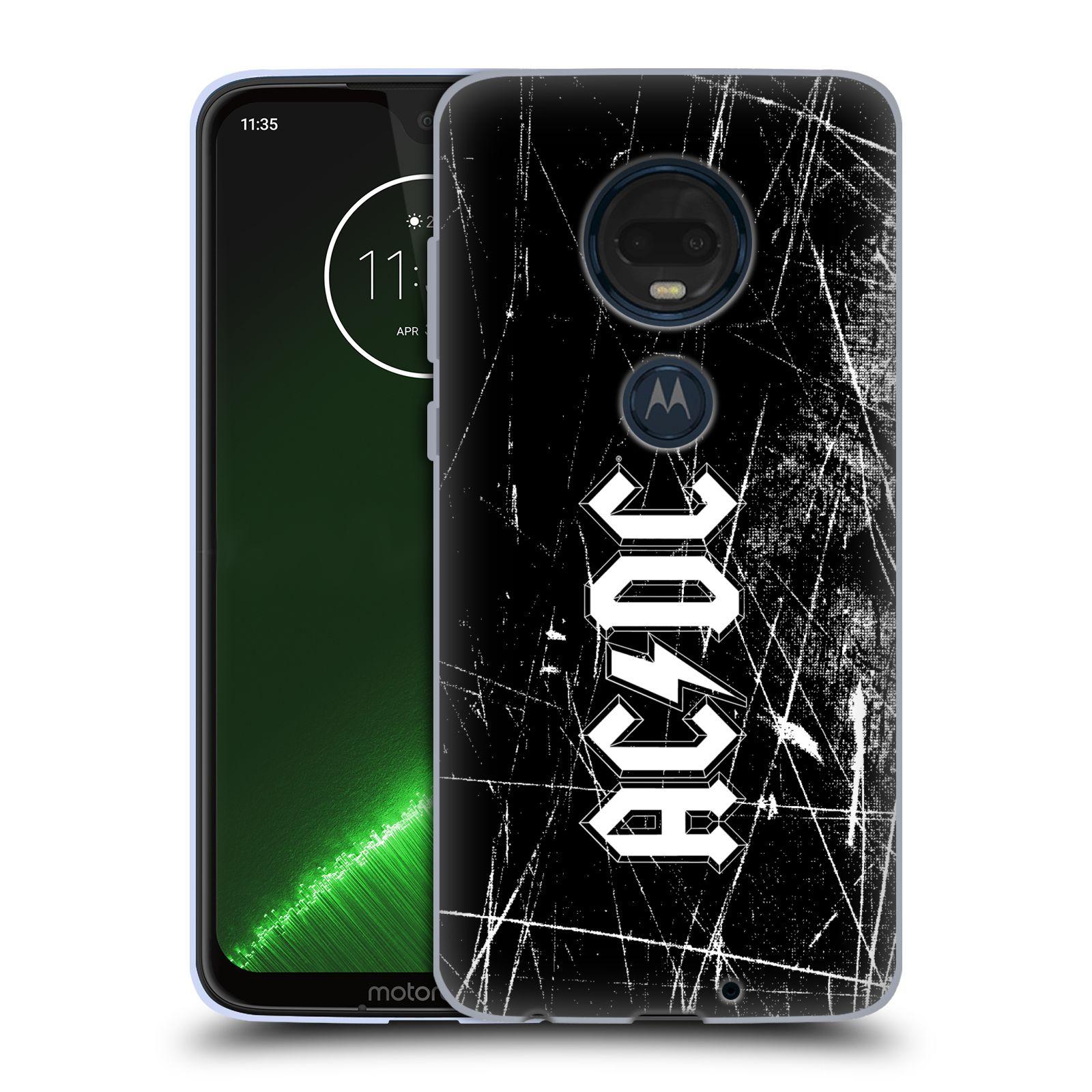 Silikonové pouzdro na mobil Motorola Moto G7 Plus - Head Case - AC/DC Černobílé logo