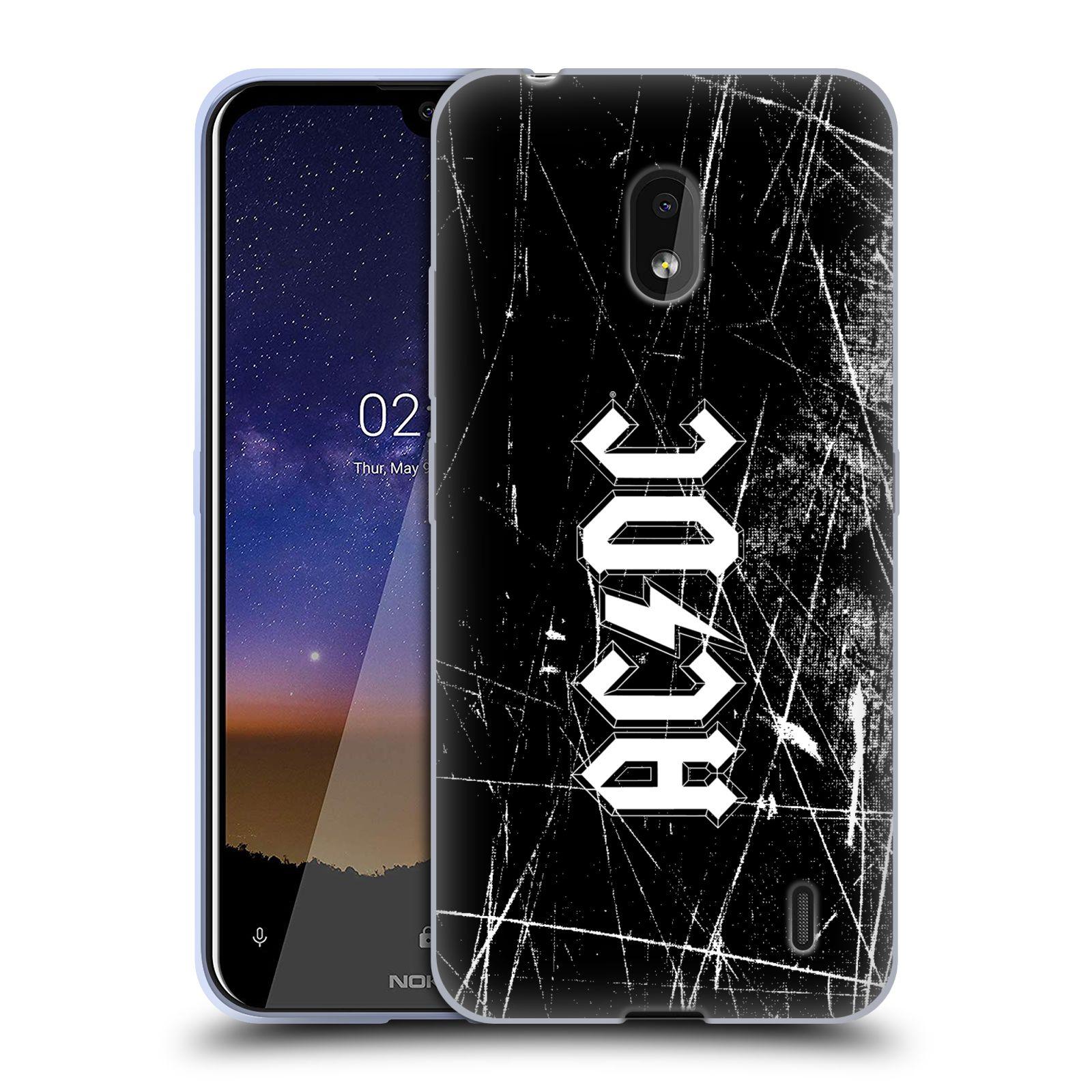 Silikonové pouzdro na mobil Nokia 2.2 - Head Case - AC/DC Černobílé logo