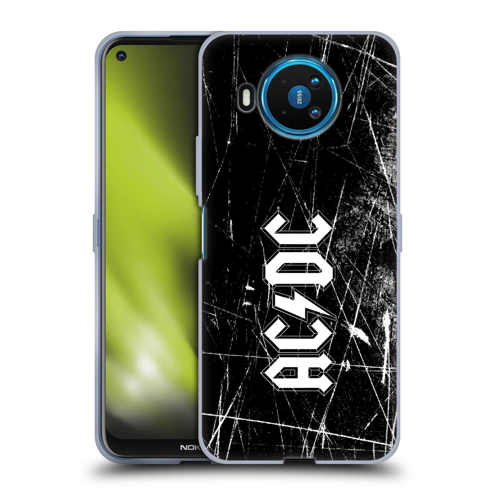 Silikonové pouzdro na mobil Nokia 8.3 5G - Head Case - AC/DC Černobílé logo