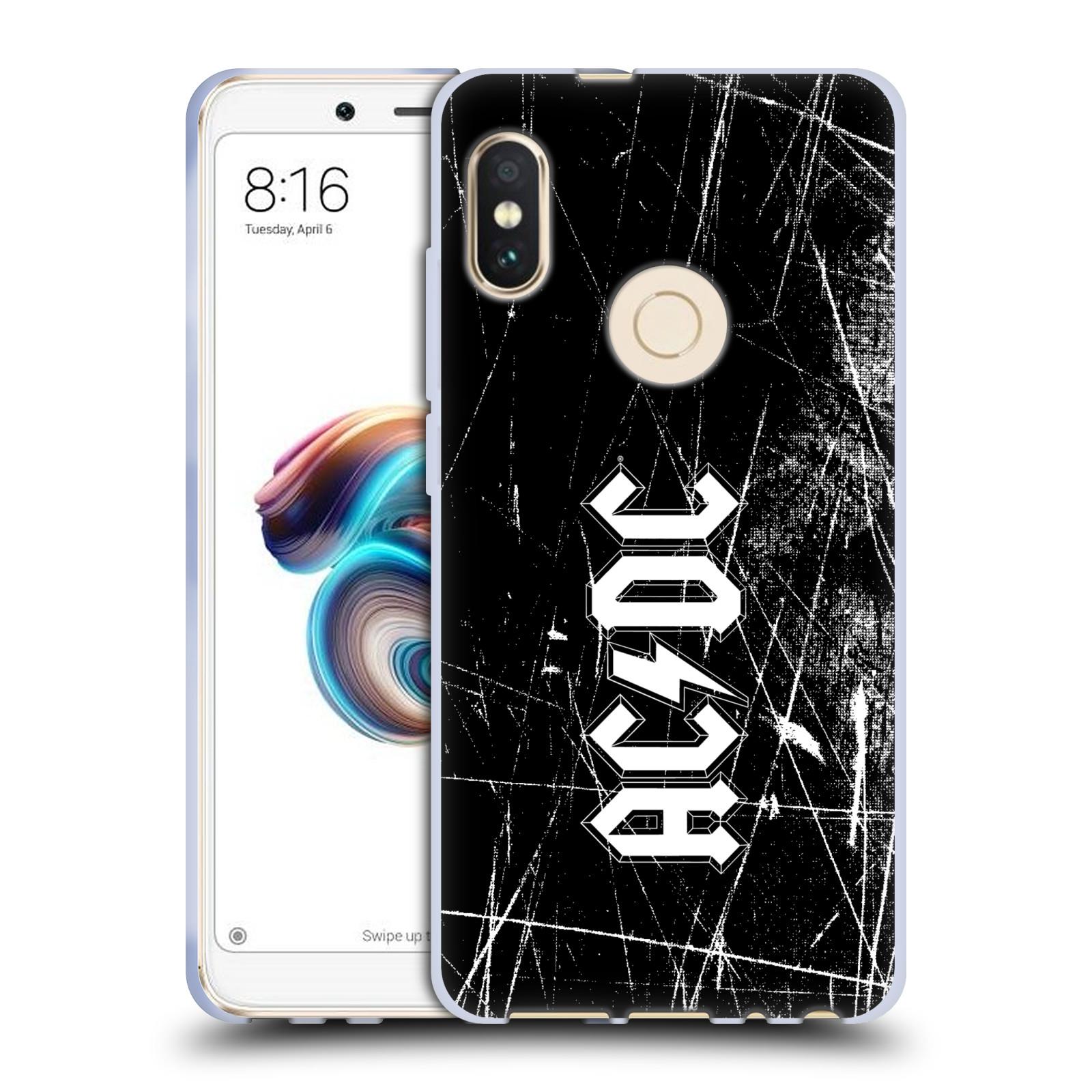 Silikonové pouzdro na mobil Xiaomi Redmi Note 5 - Head Case - AC/DC Černobílé logo