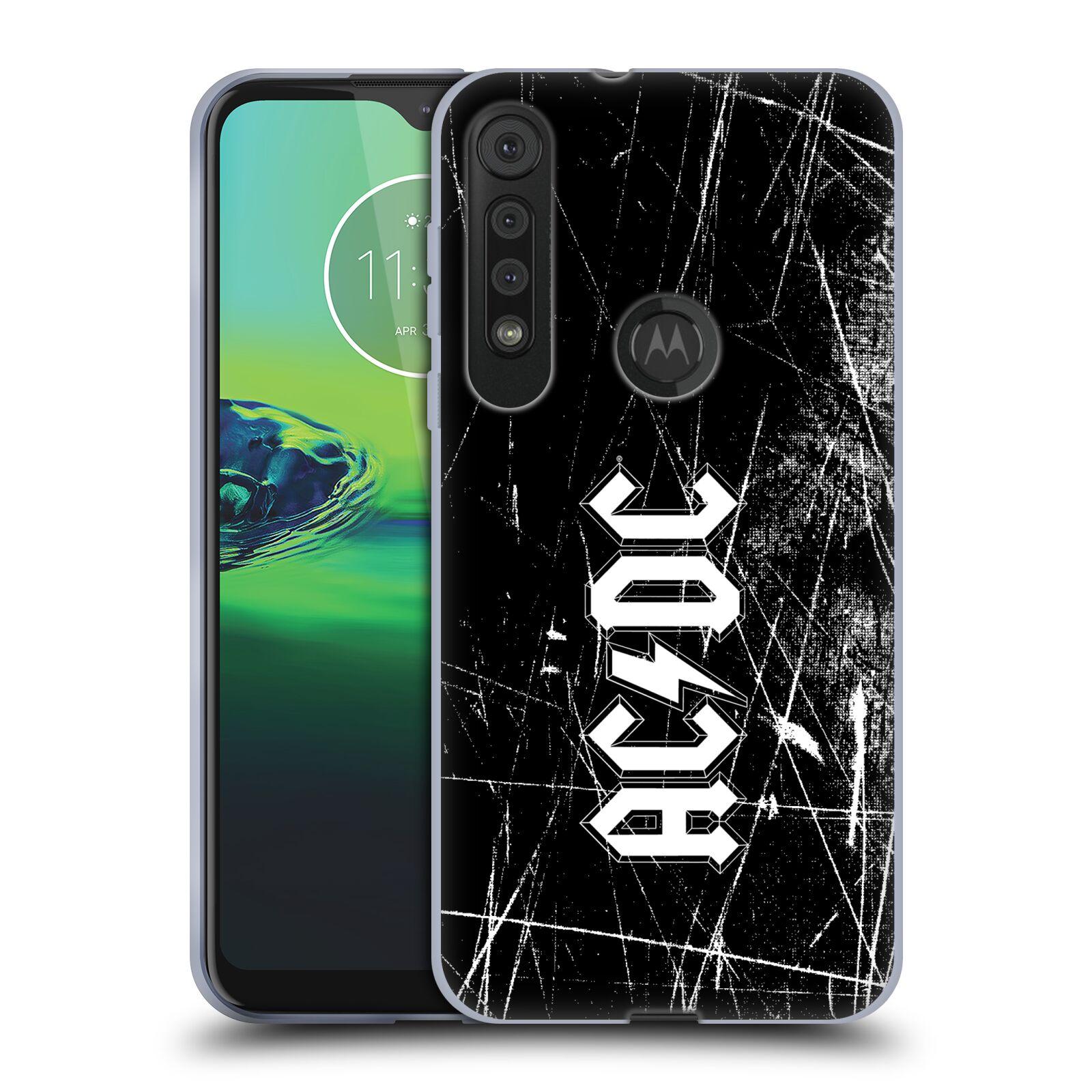 Silikonové pouzdro na mobil Motorola One Macro - Head Case - AC/DC Černobílé logo