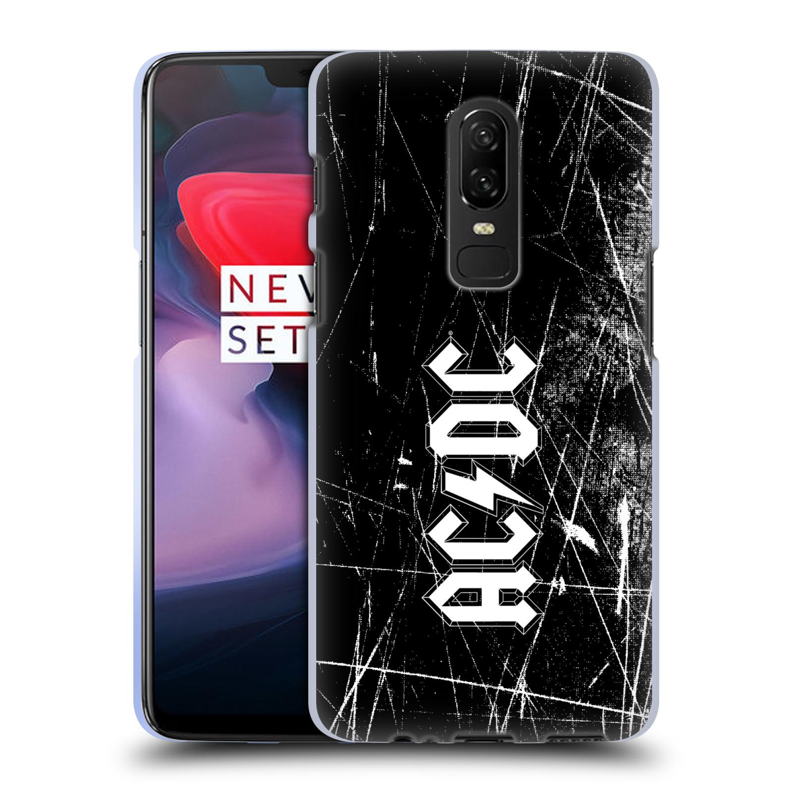 Silikonové pouzdro na mobil OnePlus 6 - Head Case - AC/DC Černobílé logo
