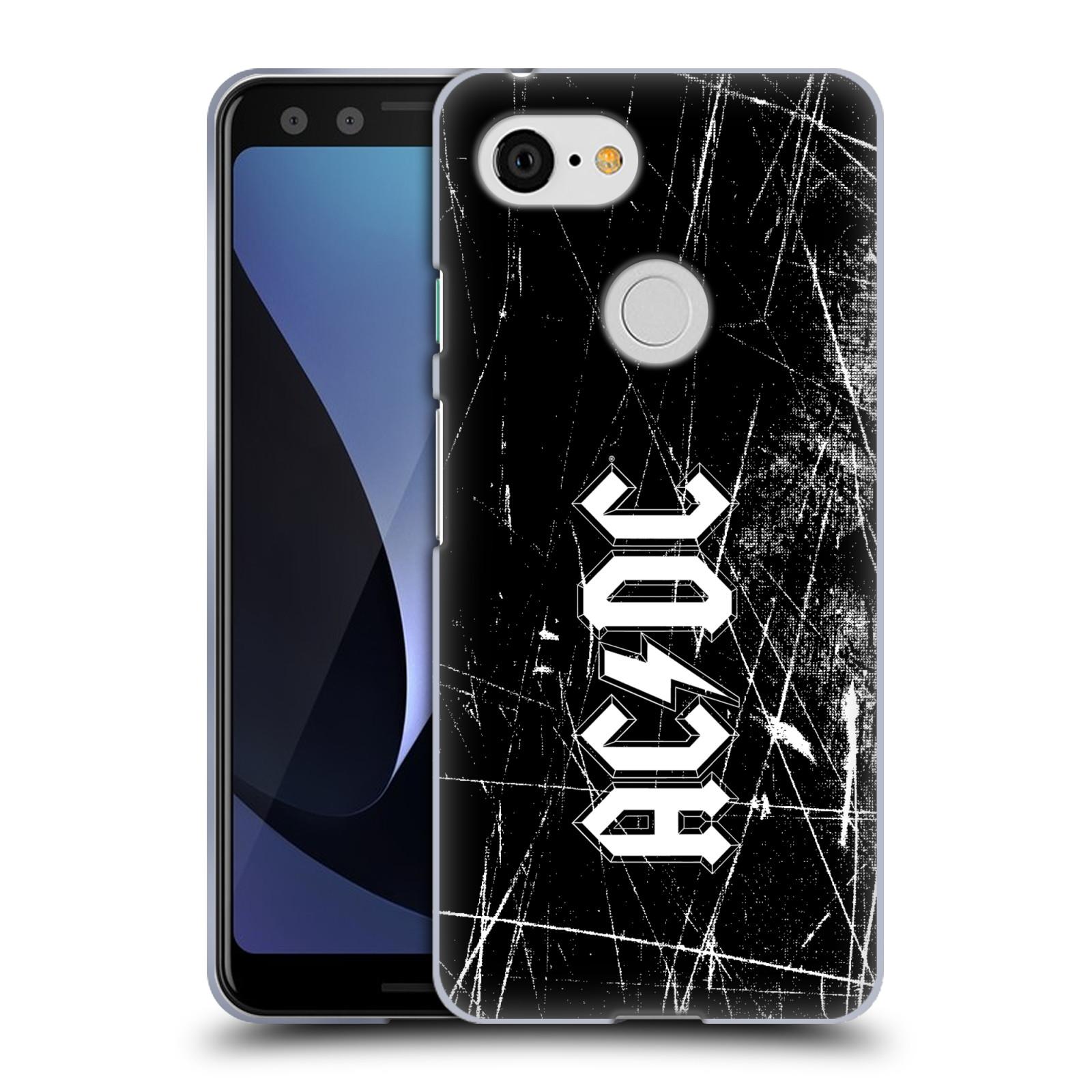 Silikonové pouzdro na mobil Google Pixel 3 - Head Case - AC/DC Černobílé logo