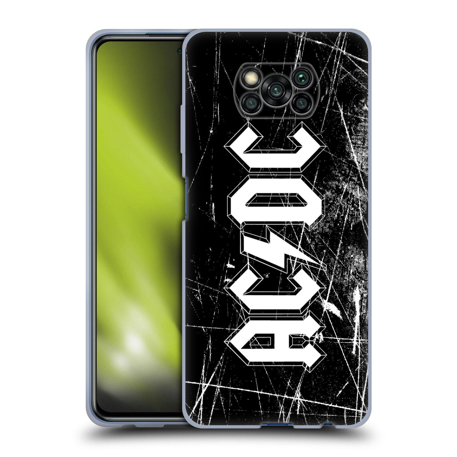 Silikonové pouzdro na mobil Xiaomi Poco X3 NFC - Head Case - AC/DC Černobílé logo