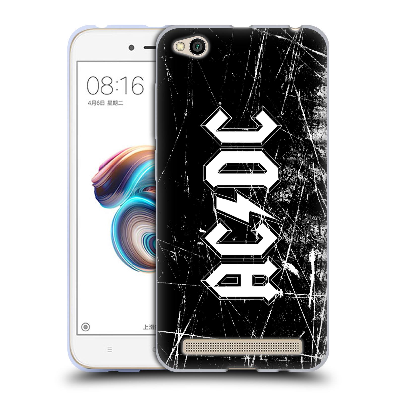 Silikonové pouzdro na mobil Xiaomi Redmi 5A - Head Case - AC/DC Černobílé logo