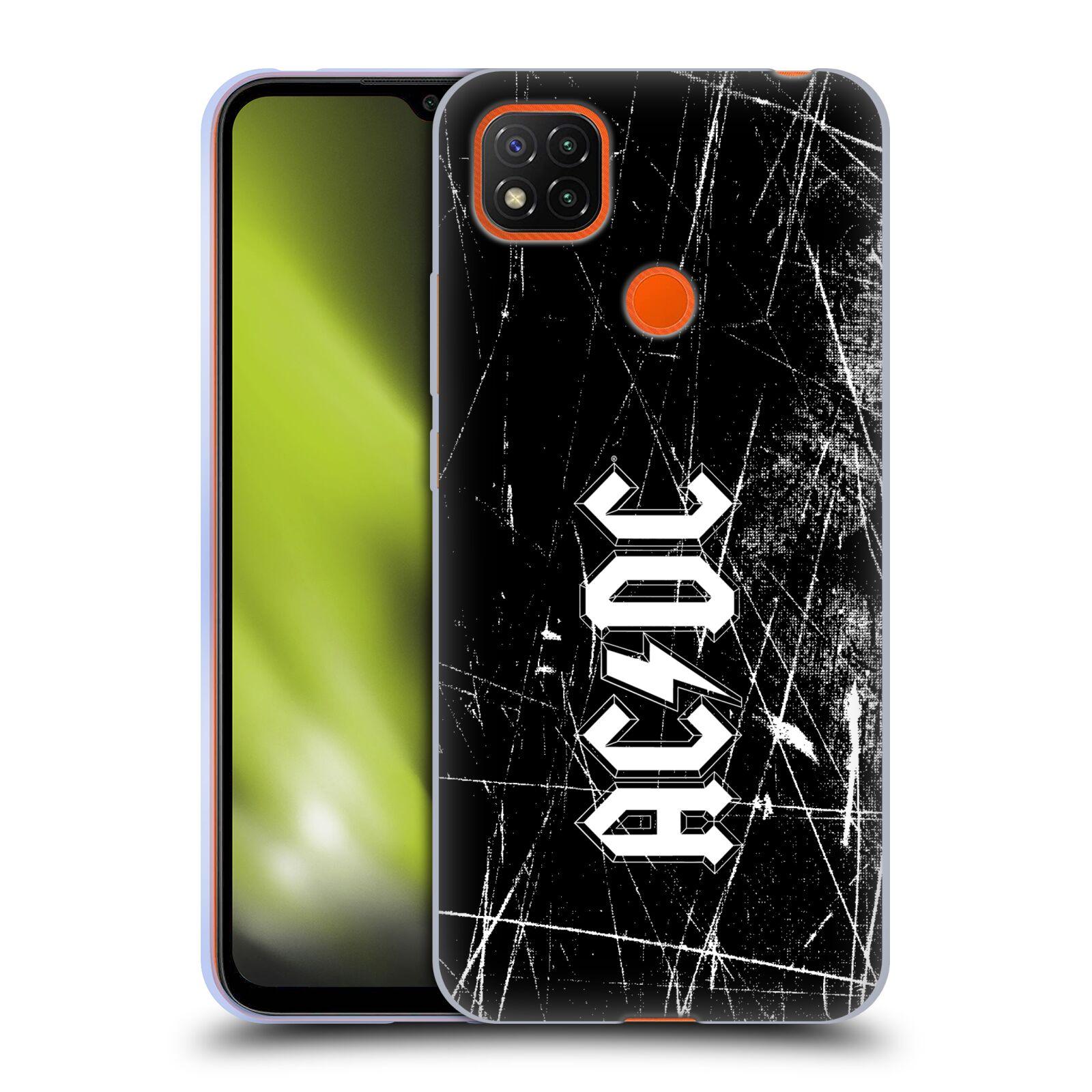 Silikonové pouzdro na mobil Xiaomi Redmi 9C - Head Case - AC/DC Černobílé logo
