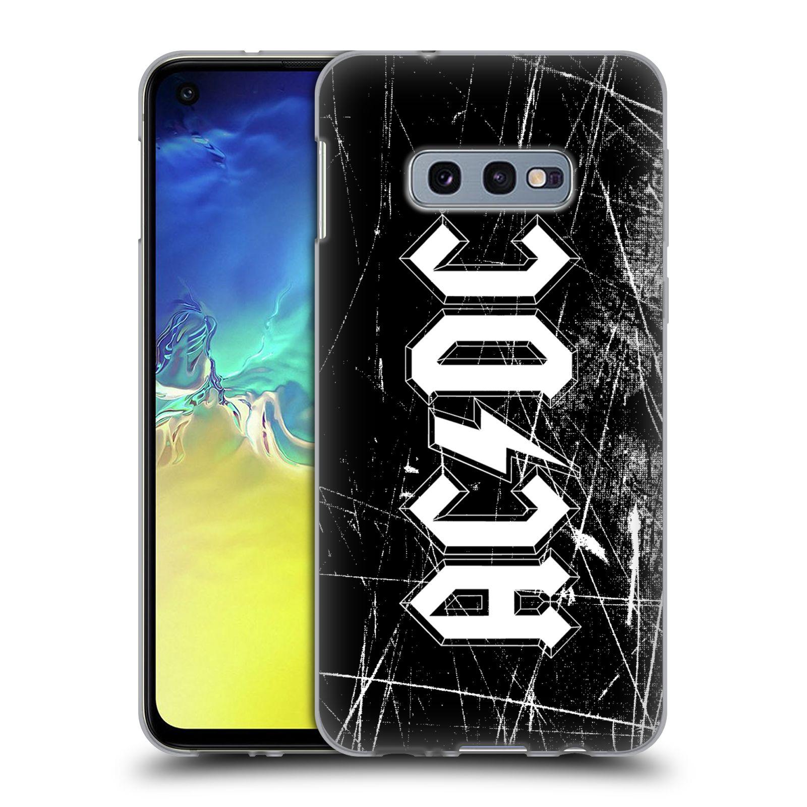 Silikonové pouzdro na mobil Samsung Galaxy S10e - Head Case - AC/DC Černobílé logo