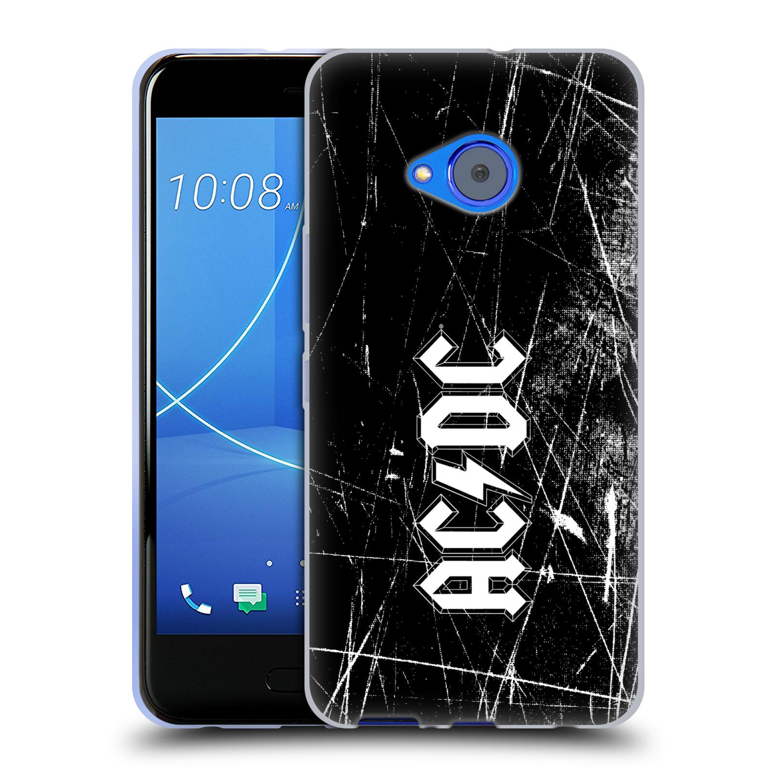 Silikonové pouzdro na mobil HTC U11 Life - Head Case - AC/DC Černobílé logo