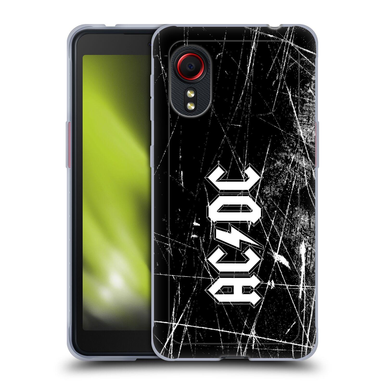 Silikonové pouzdro na mobil Samsung Galaxy Xcover 5 - Head Case - AC/DC Černobílé logo
