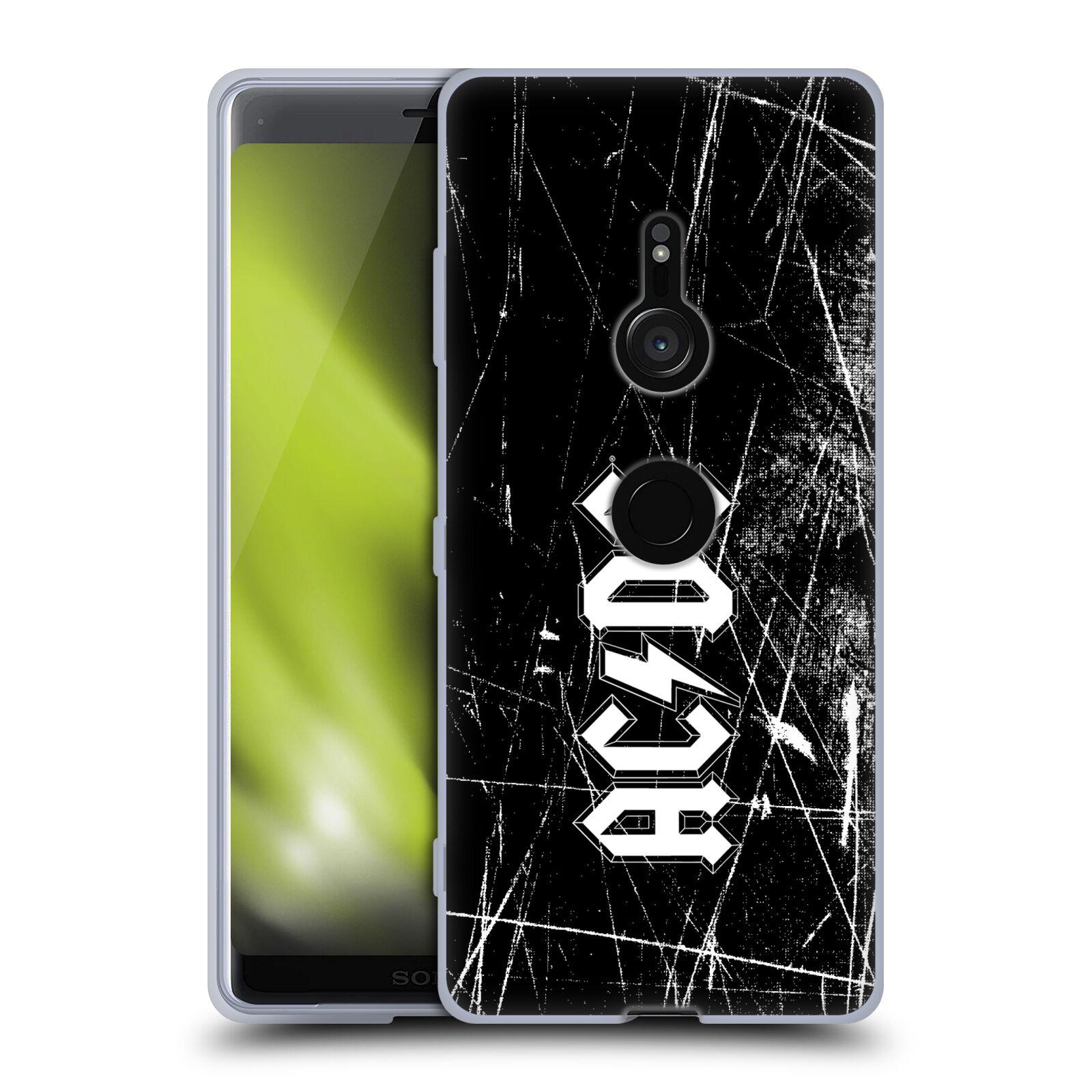 Silikonové pouzdro na mobil Sony Xperia XZ3 - Head Case - AC/DC Černobílé logo
