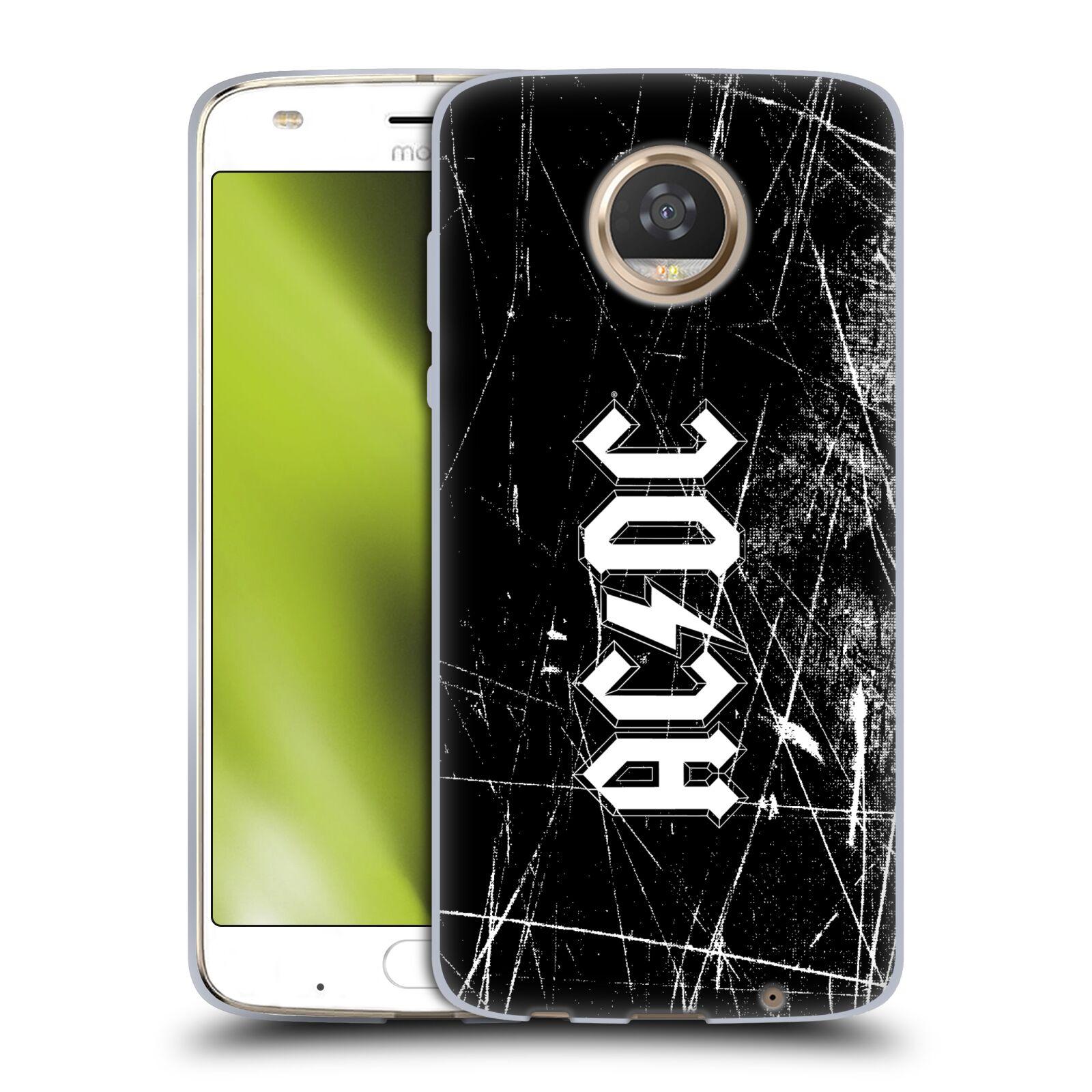 Silikonové pouzdro na mobil Lenovo Moto Z2 Play - Head Case - AC/DC Černobílé logo