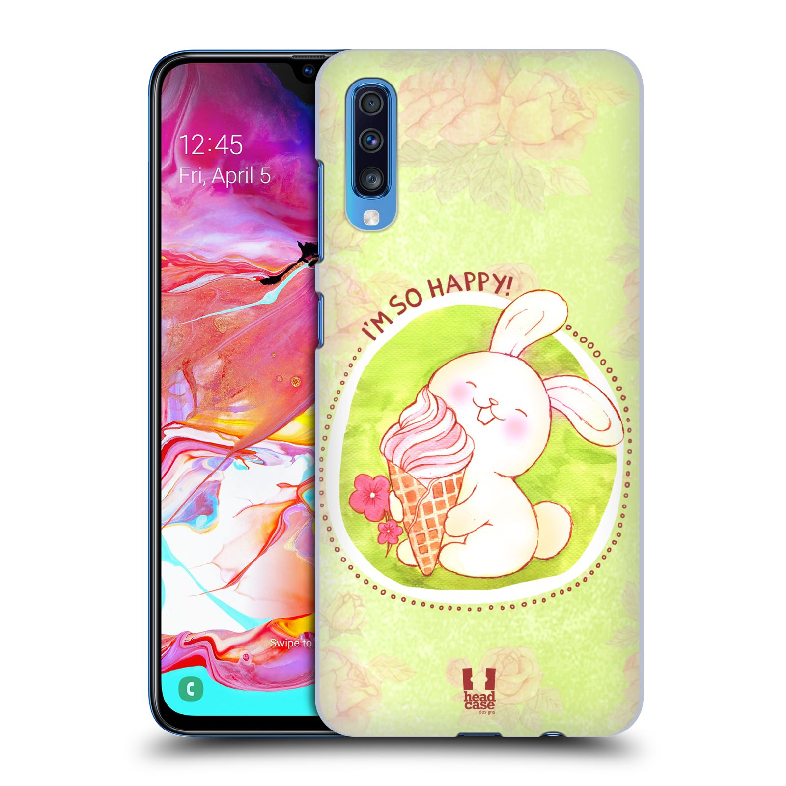 Plastové pouzdro na mobil Samsung Galaxy A70 - Head Case - KRÁLÍČEK A ZMRZKA