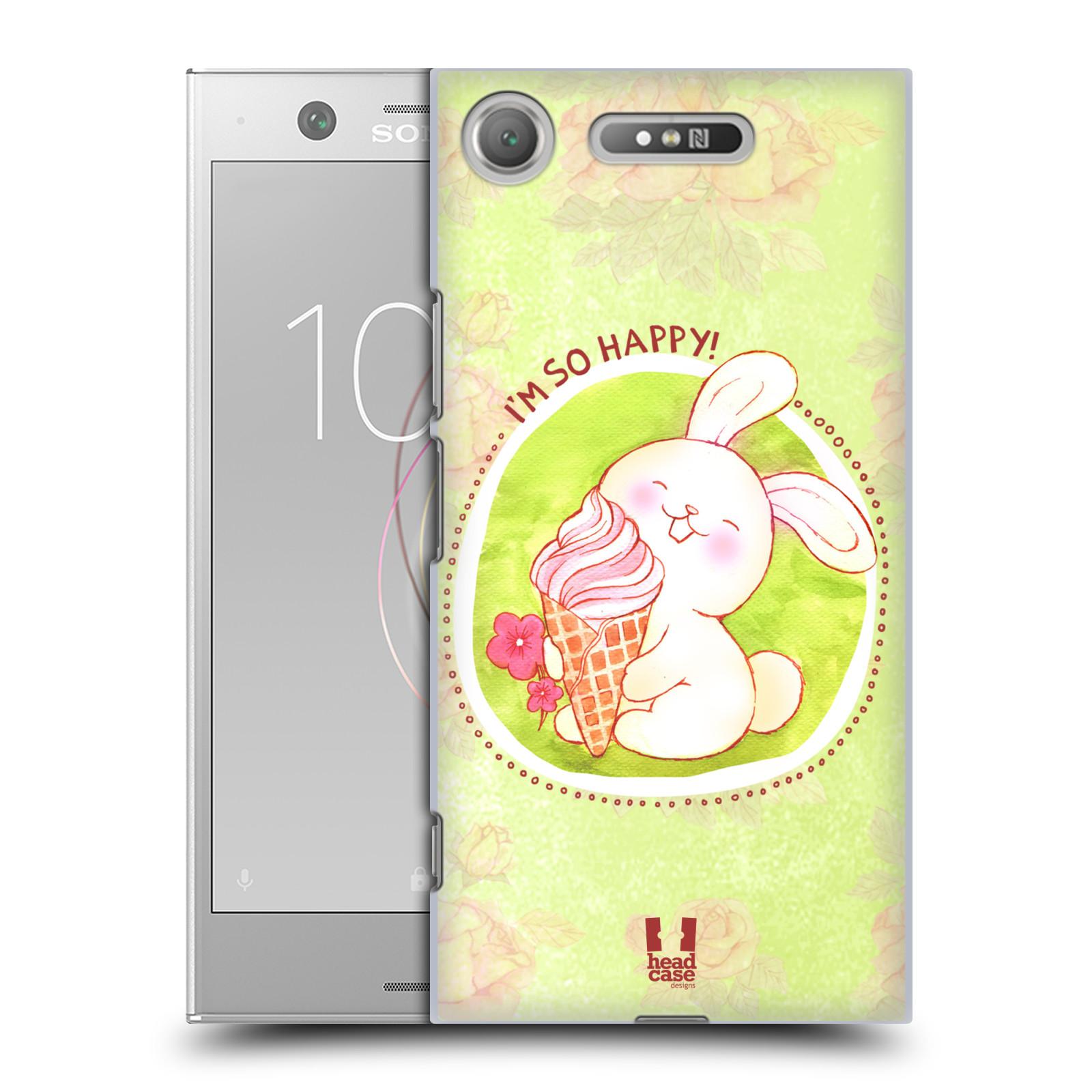 Plastové pouzdro na mobil Sony Xperia XZ1 - Head Case - KRÁLÍČEK A ZMRZKA