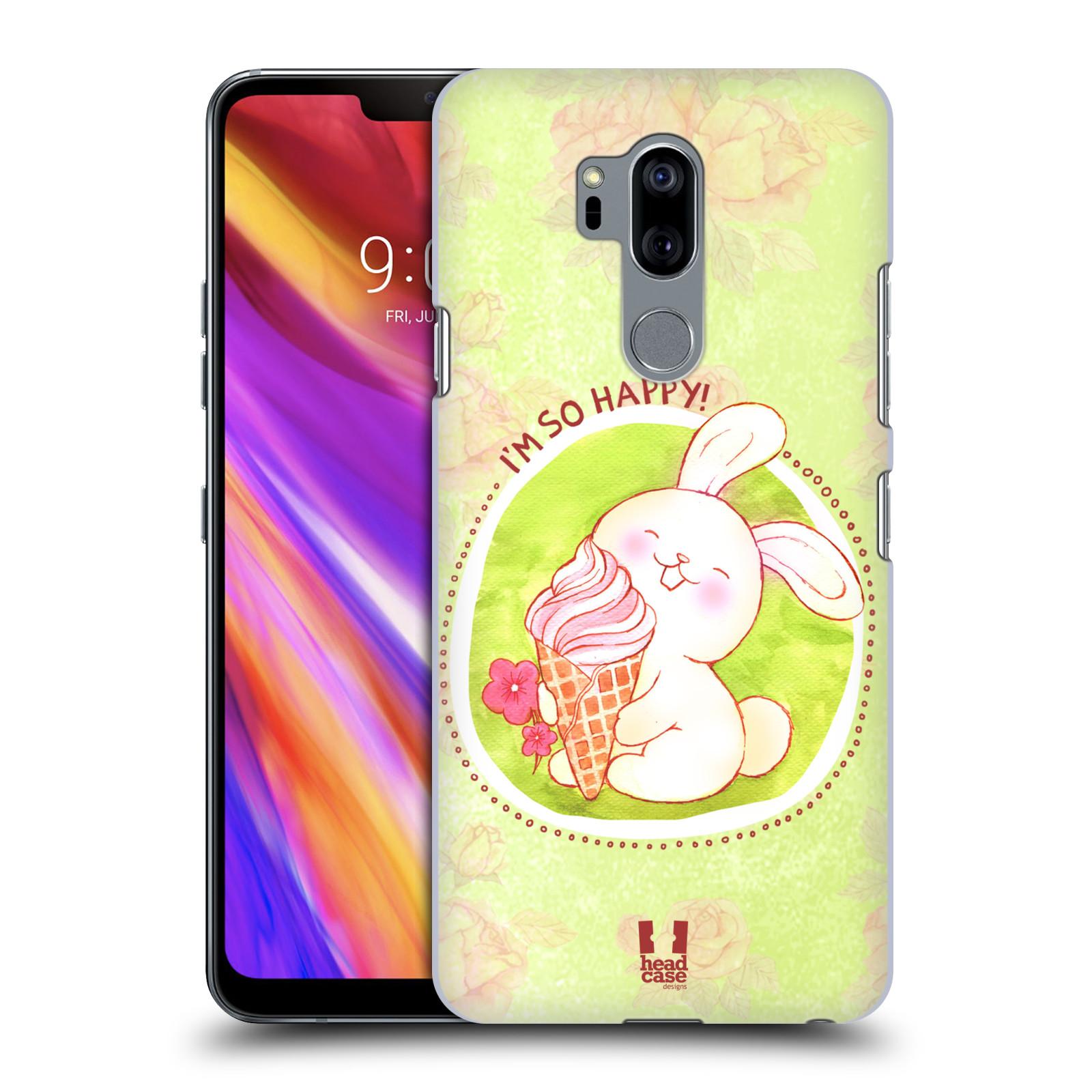 Plastové pouzdro na mobil LG G7 ThinQ - Head Case - KRÁLÍČEK A ZMRZKA