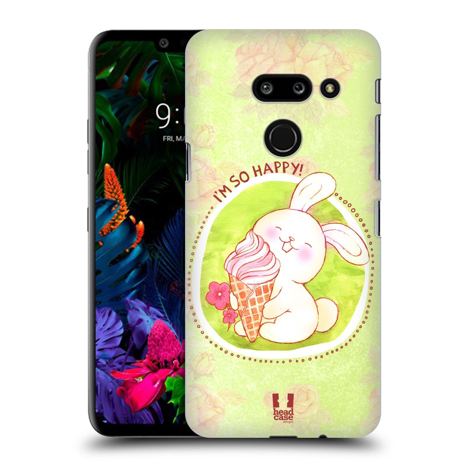 Plastové pouzdro na mobil LG G8 ThinQ - Head Case - KRÁLÍČEK A ZMRZKA