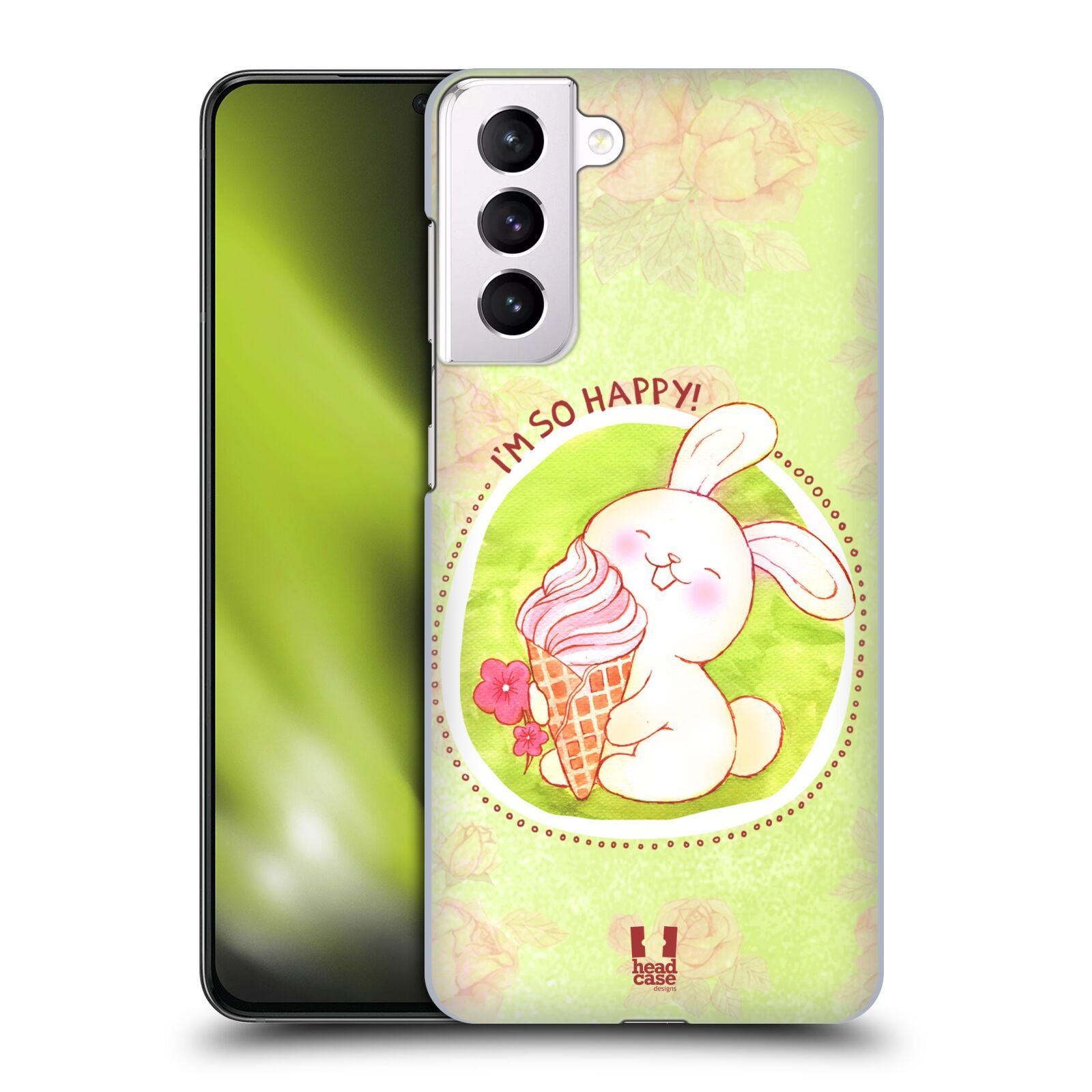 Plastové pouzdro na mobil Samsung Galaxy S21 Plus 5G - Head Case - KRÁLÍČEK A ZMRZKA