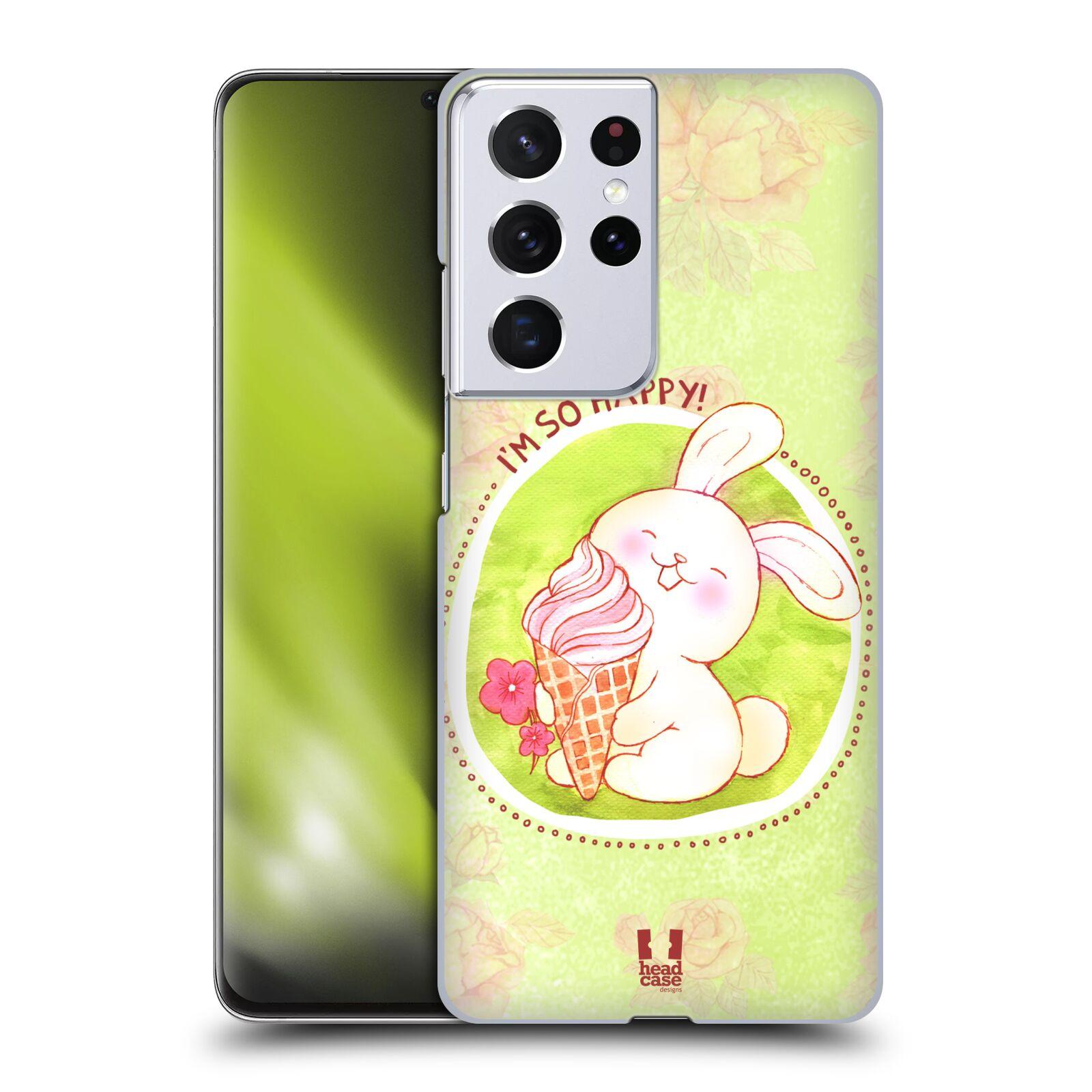 Plastové pouzdro na mobil Samsung Galaxy S21 Ultra 5G - Head Case - KRÁLÍČEK A ZMRZKA
