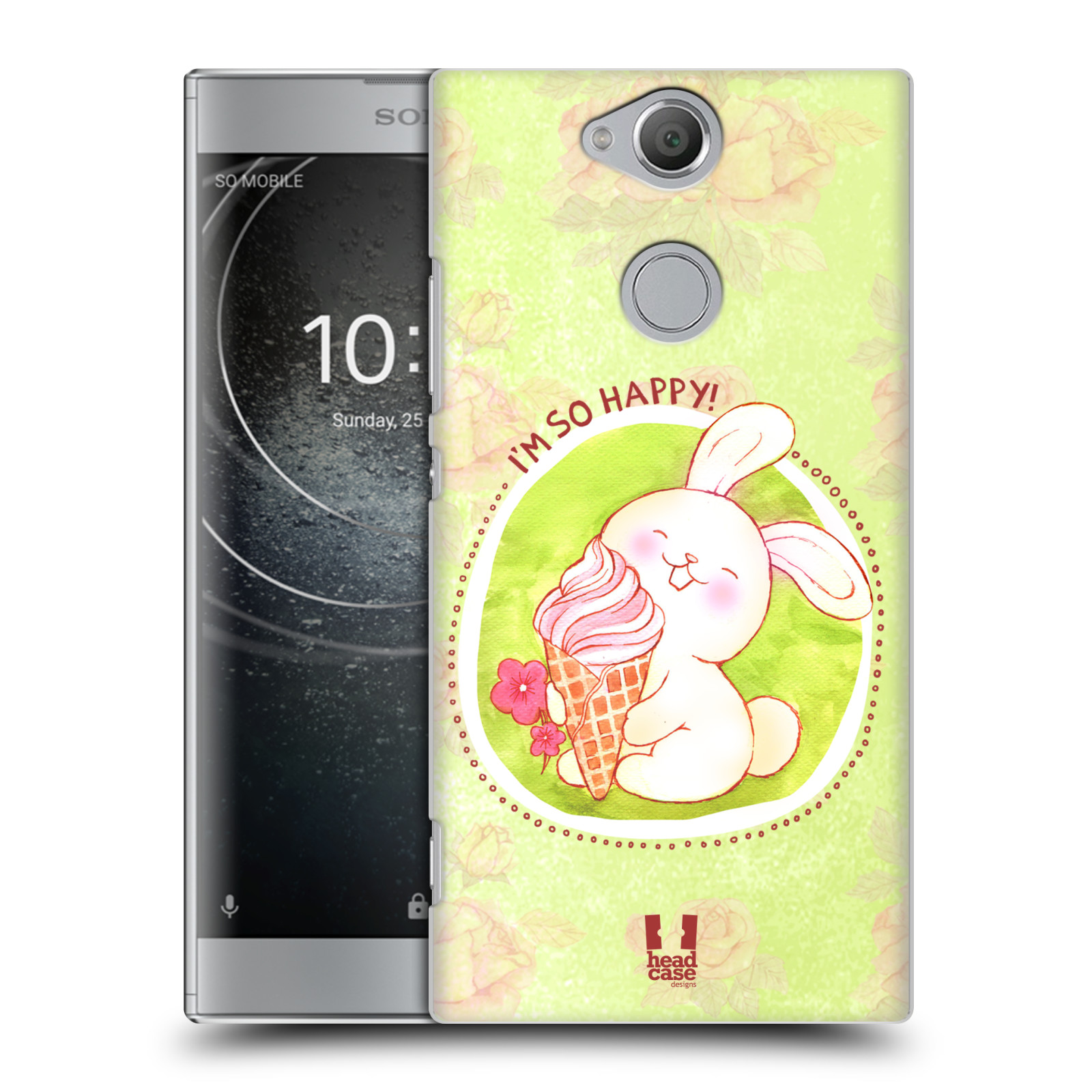 Plastové pouzdro na mobil Sony Xperia XA2 - Head Case - KRÁLÍČEK A ZMRZKA