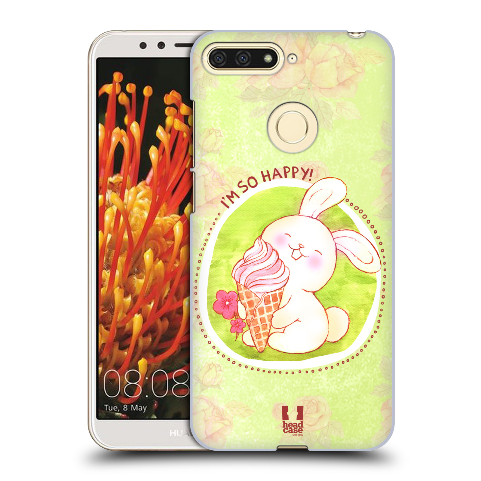 Plastové pouzdro na mobil Huawei Y6 Prime 2018 - Head Case - KRÁLÍČEK A ZMRZKA