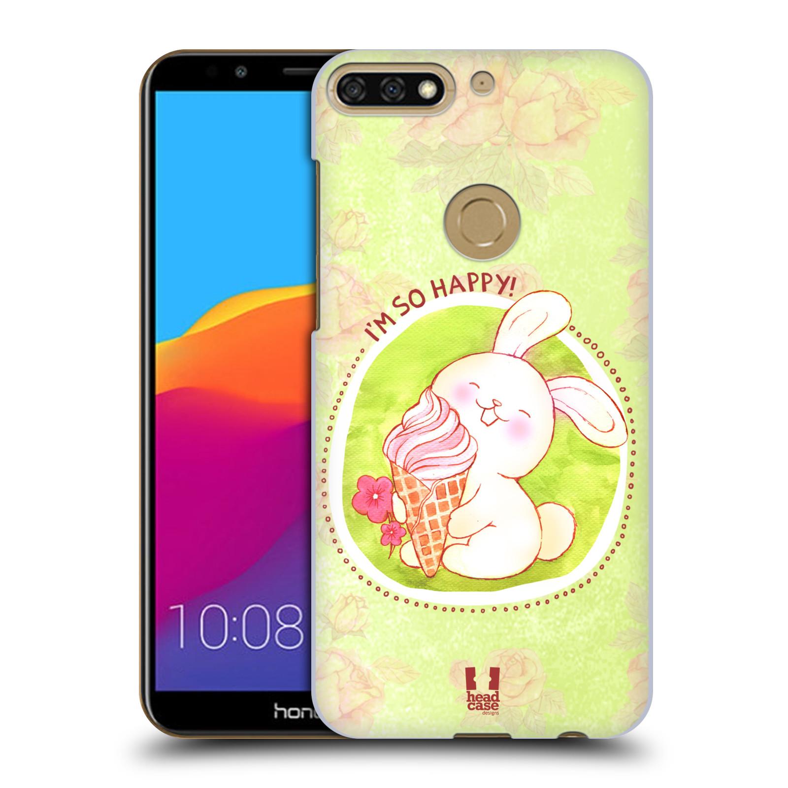 Plastové pouzdro na mobil Huawei Y7 Prime 2018 - Head Case - KRÁLÍČEK A ZMRZKA
