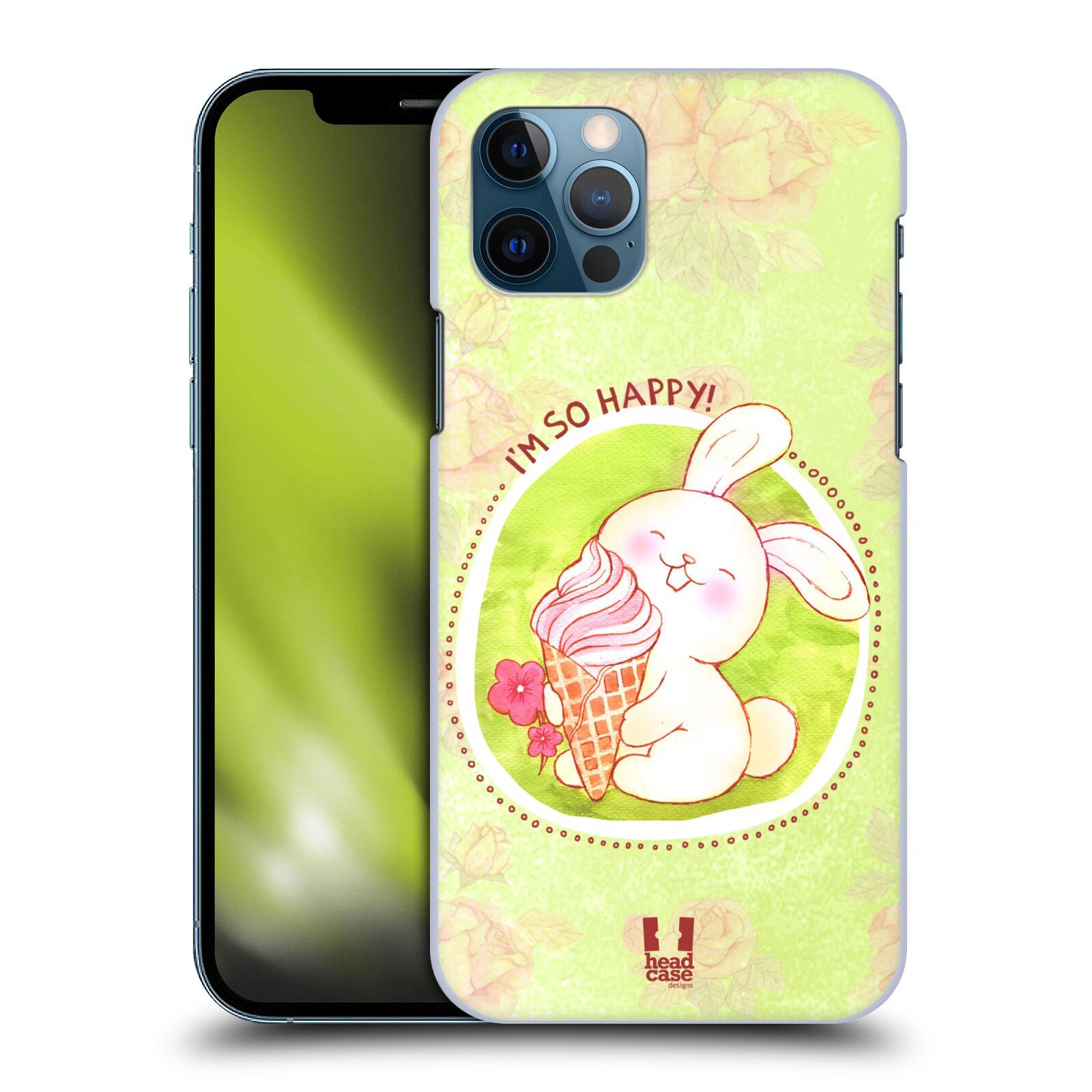 Plastové pouzdro na mobil Apple iPhone 12 / 12 Pro - Head Case - KRÁLÍČEK A ZMRZKA
