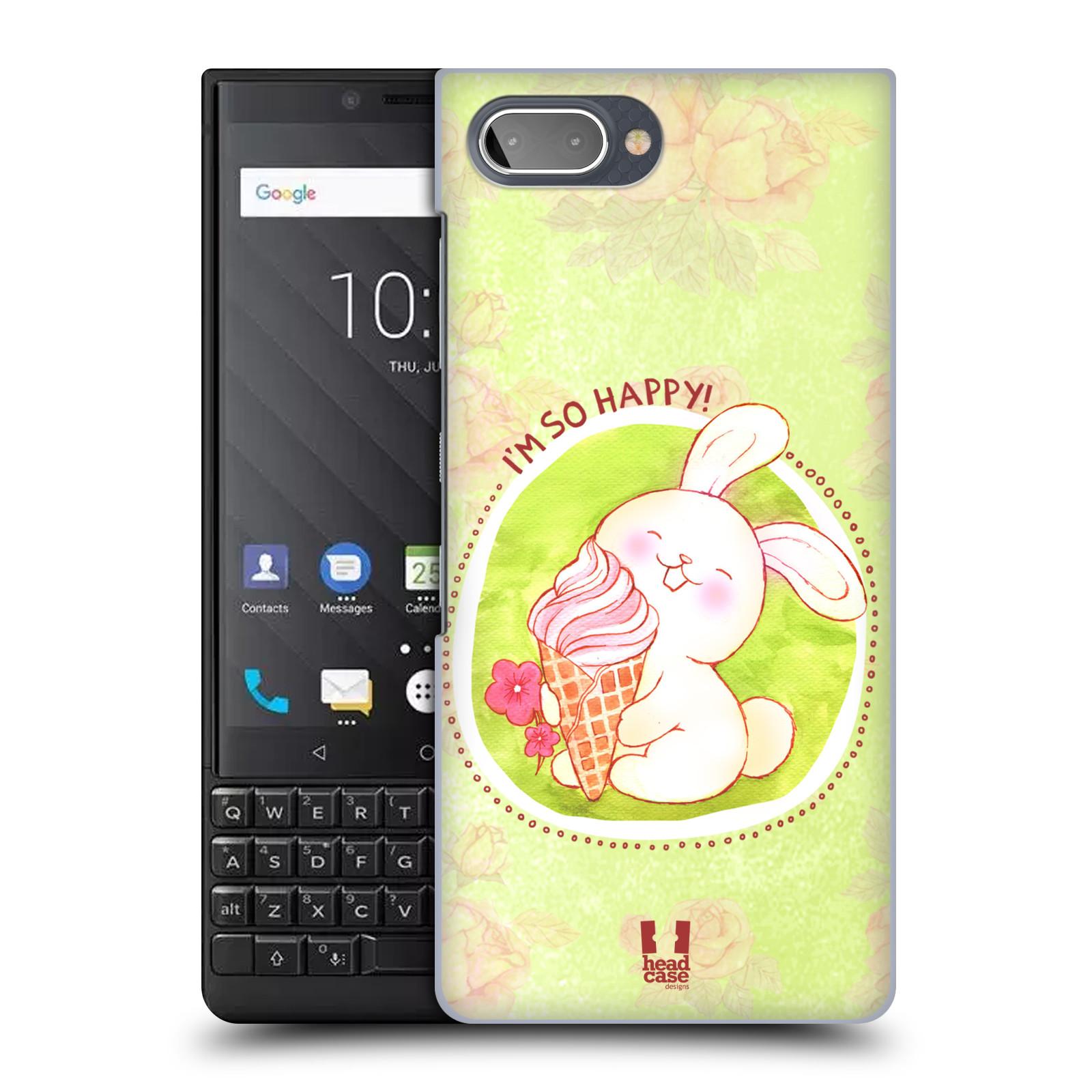 Plastové pouzdro na mobil Blackberry Key 2 - Head Case - KRÁLÍČEK A ZMRZKA