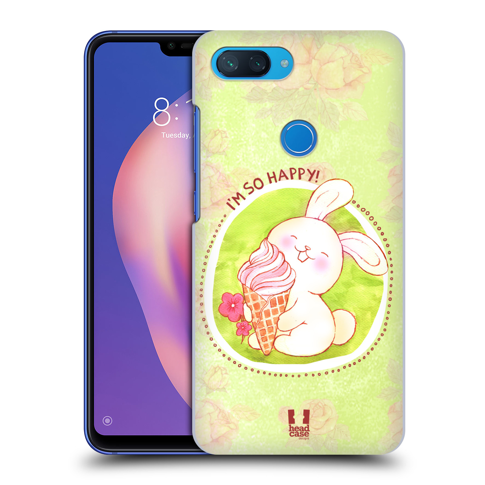 Plastové pouzdro na mobil Xiaomi Mi 8 Lite - Head Case - KRÁLÍČEK A ZMRZKA