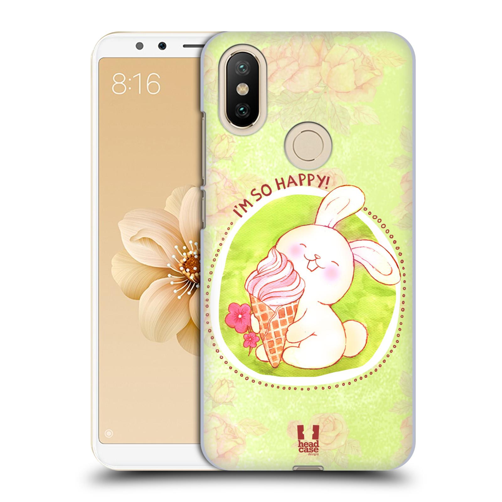 Plastové pouzdro na mobil Xiaomi Mi A2 - Head Case - KRÁLÍČEK A ZMRZKA