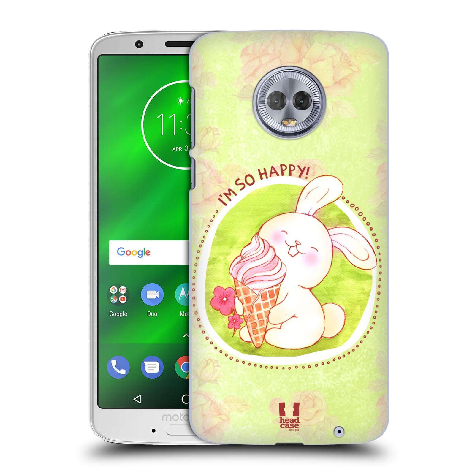 Plastové pouzdro na mobil Motorola Moto G6 Plus - Head Case - KRÁLÍČEK A ZMRZKA