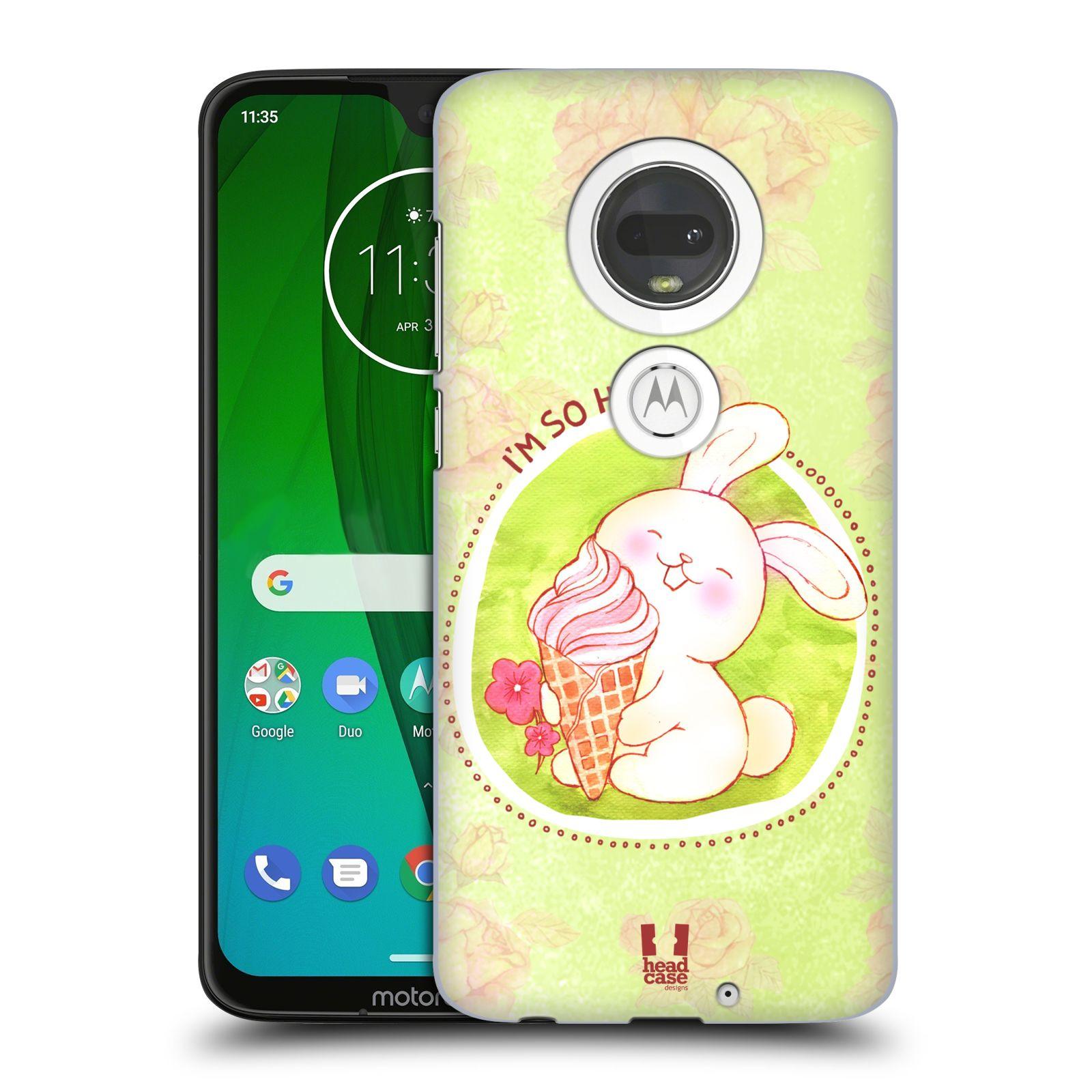 Plastové pouzdro na mobil Motorola Moto G7 - Head Case - KRÁLÍČEK A ZMRZKA