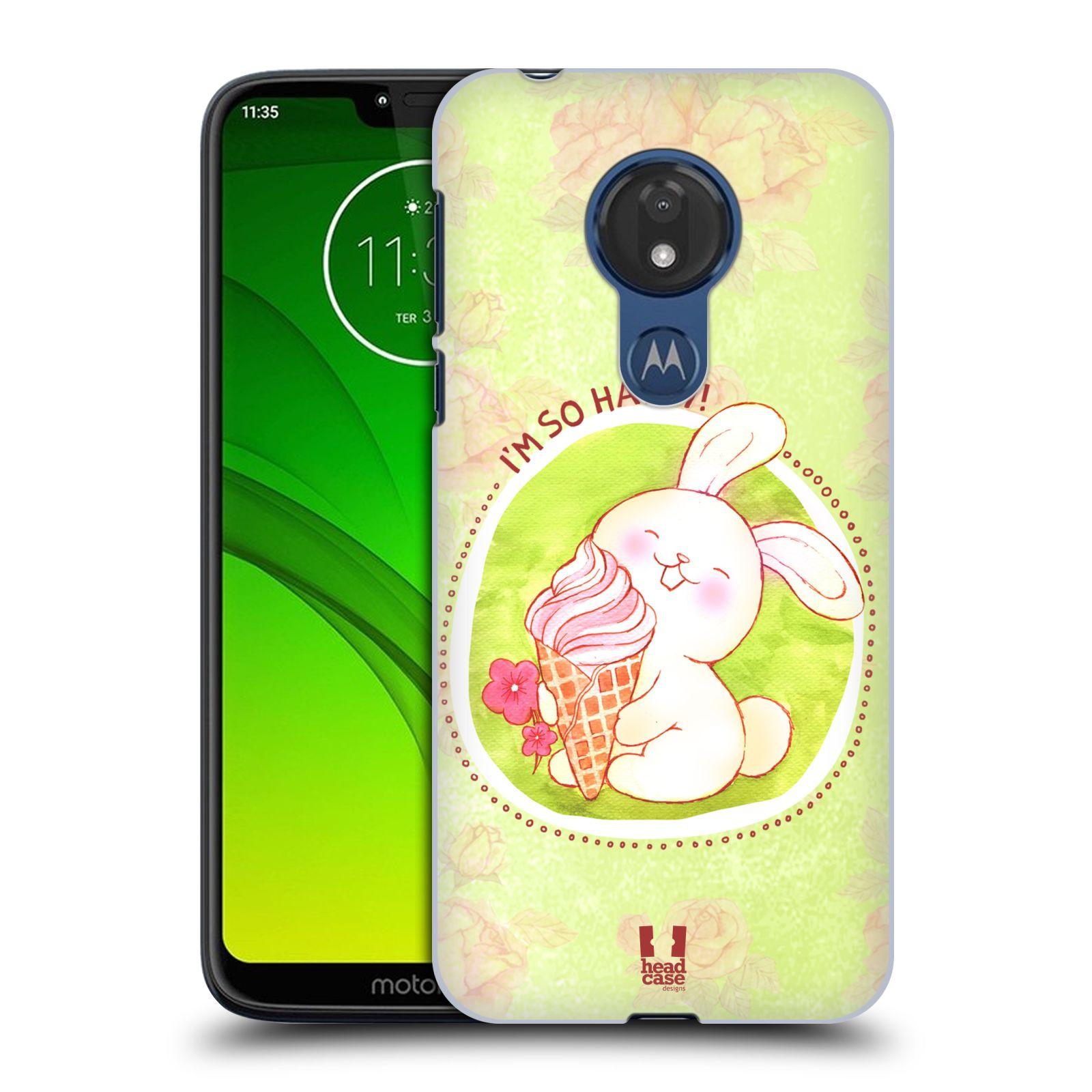 Plastové pouzdro na mobil Motorola Moto G7 Power - Head Case - KRÁLÍČEK A ZMRZKA