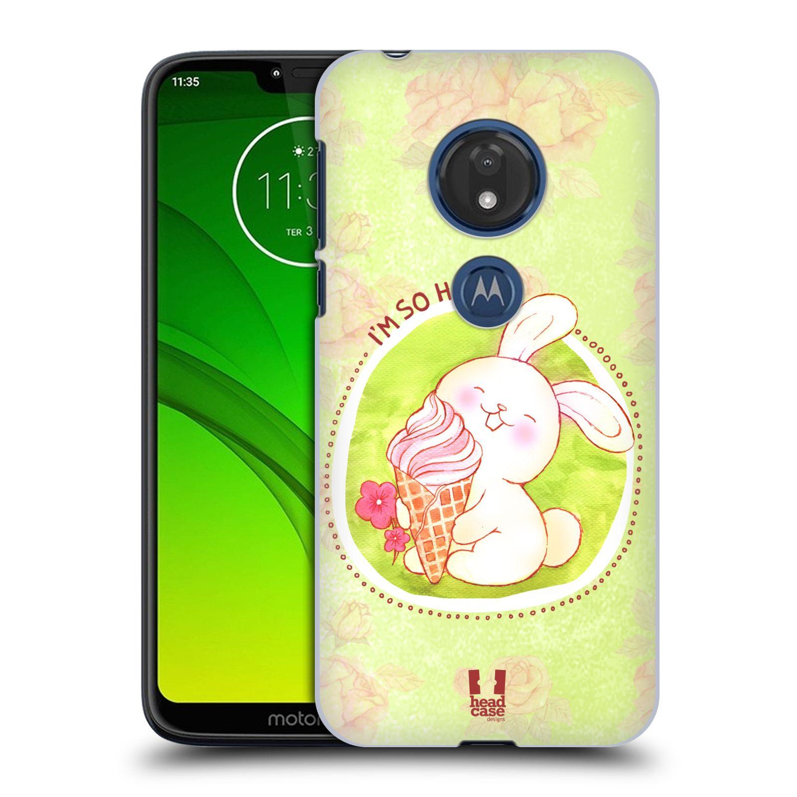 Plastové pouzdro na mobil Motorola Moto G7 Play - Head Case - KRÁLÍČEK A ZMRZKA