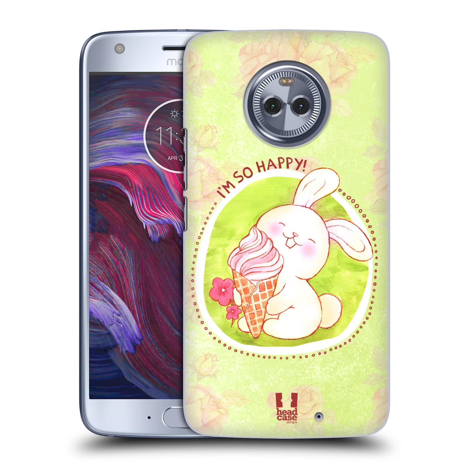 Plastové pouzdro na mobil Lenovo Moto X4 - Head Case - KRÁLÍČEK A ZMRZKA