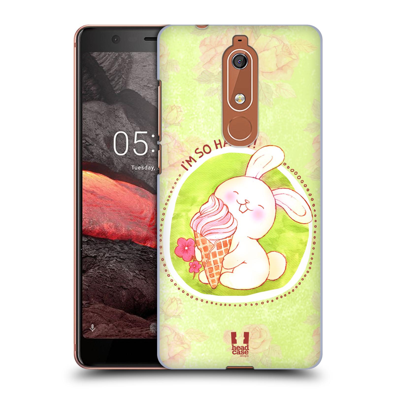 Plastové pouzdro na mobil Nokia 5.1 - Head Case - KRÁLÍČEK A ZMRZKA