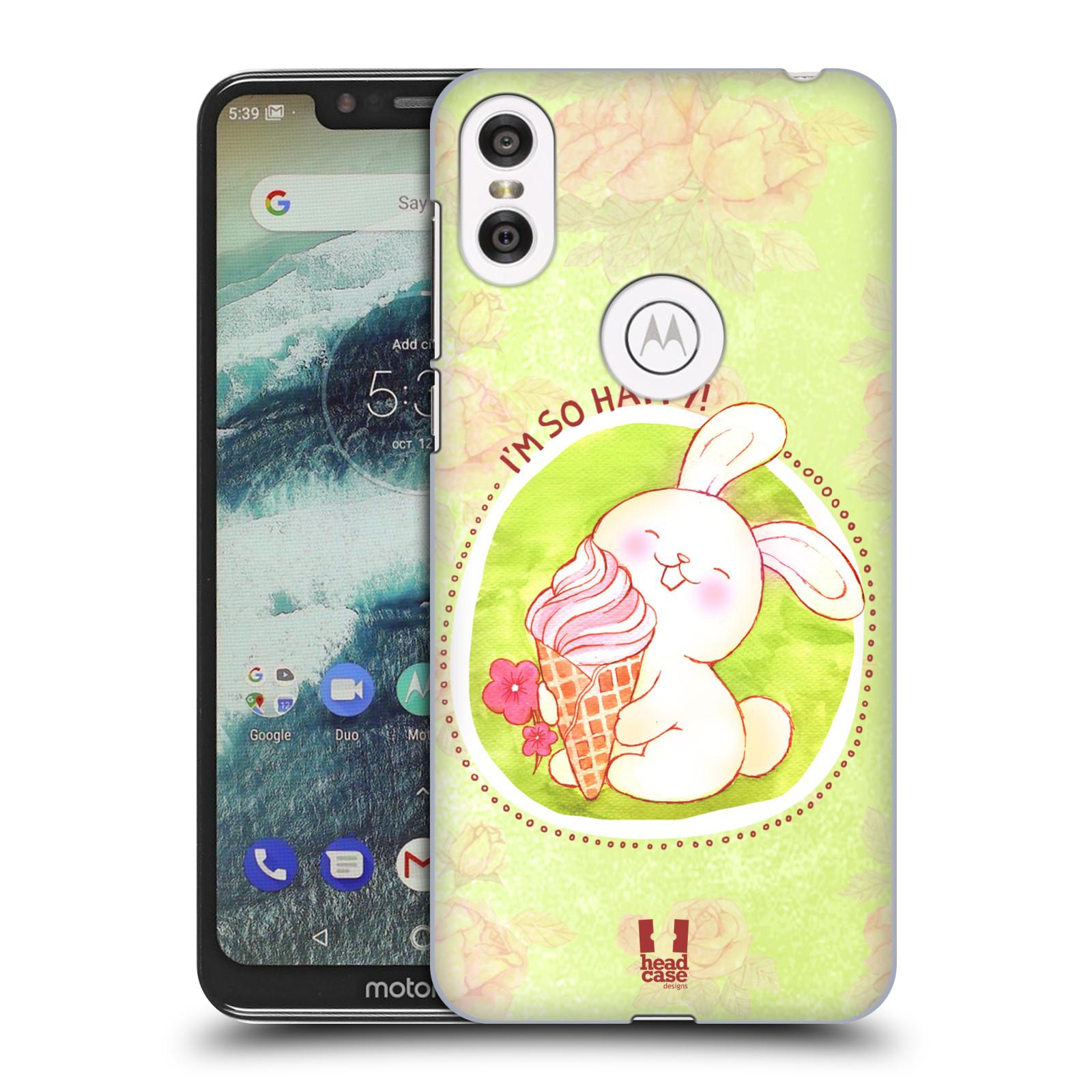 Plastové pouzdro na mobil Motorola One - Head Case - KRÁLÍČEK A ZMRZKA