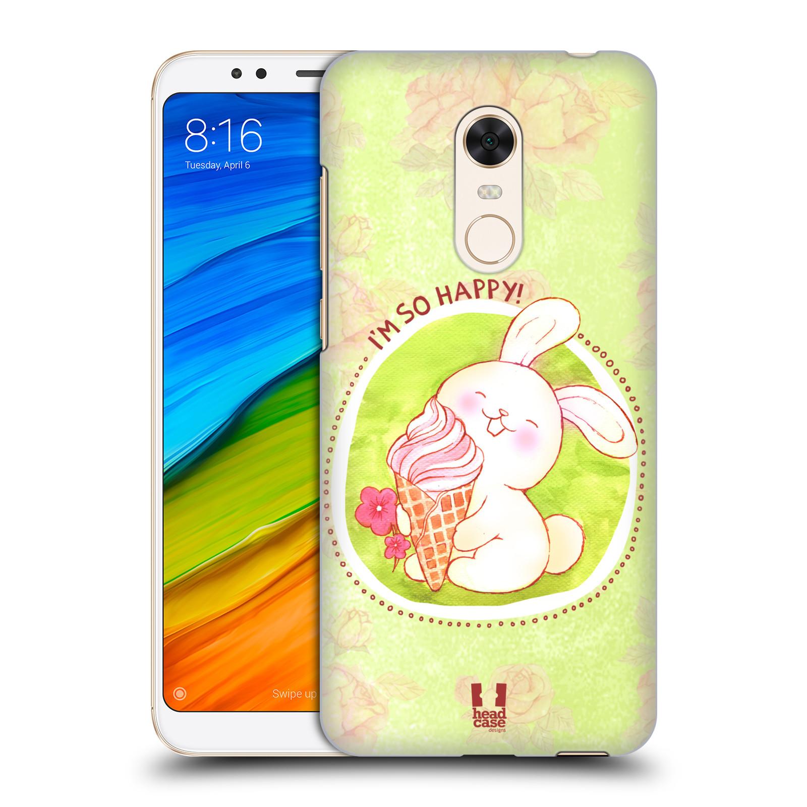 Plastové pouzdro na mobil Xiaomi Redmi 5 Plus - Head Case - KRÁLÍČEK A ZMRZKA